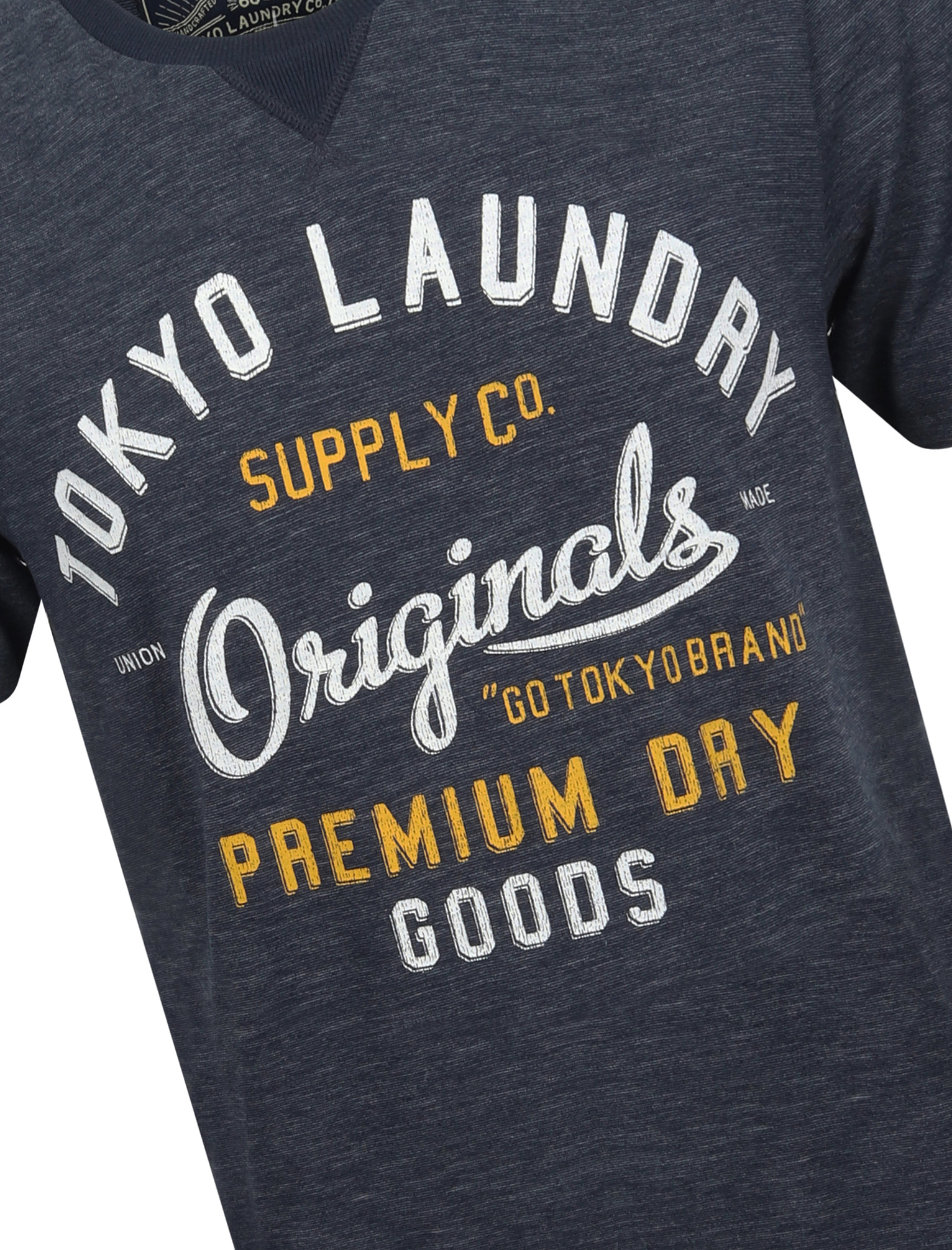 Tokyo-Laundry-Mens-Crew-Neck-T-Shirt-Vintage-Retro-Graphic-Print-Top-Size-S-XXL miniatura 81
