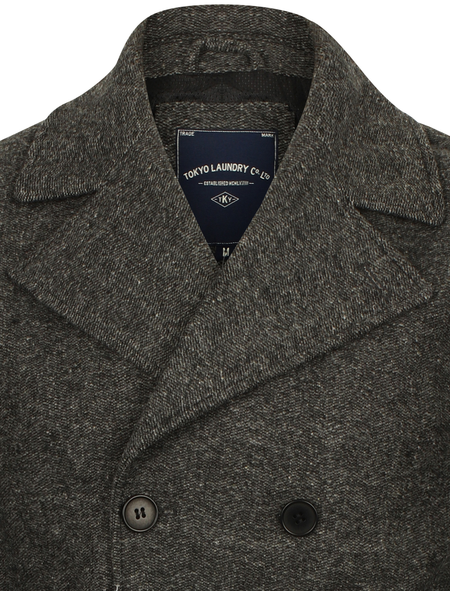 New-Mens-Tokyo-Laundry-Branded-Wool-Blend-Peacoat-Duffle-Coat-Size-S-XXL thumbnail 9