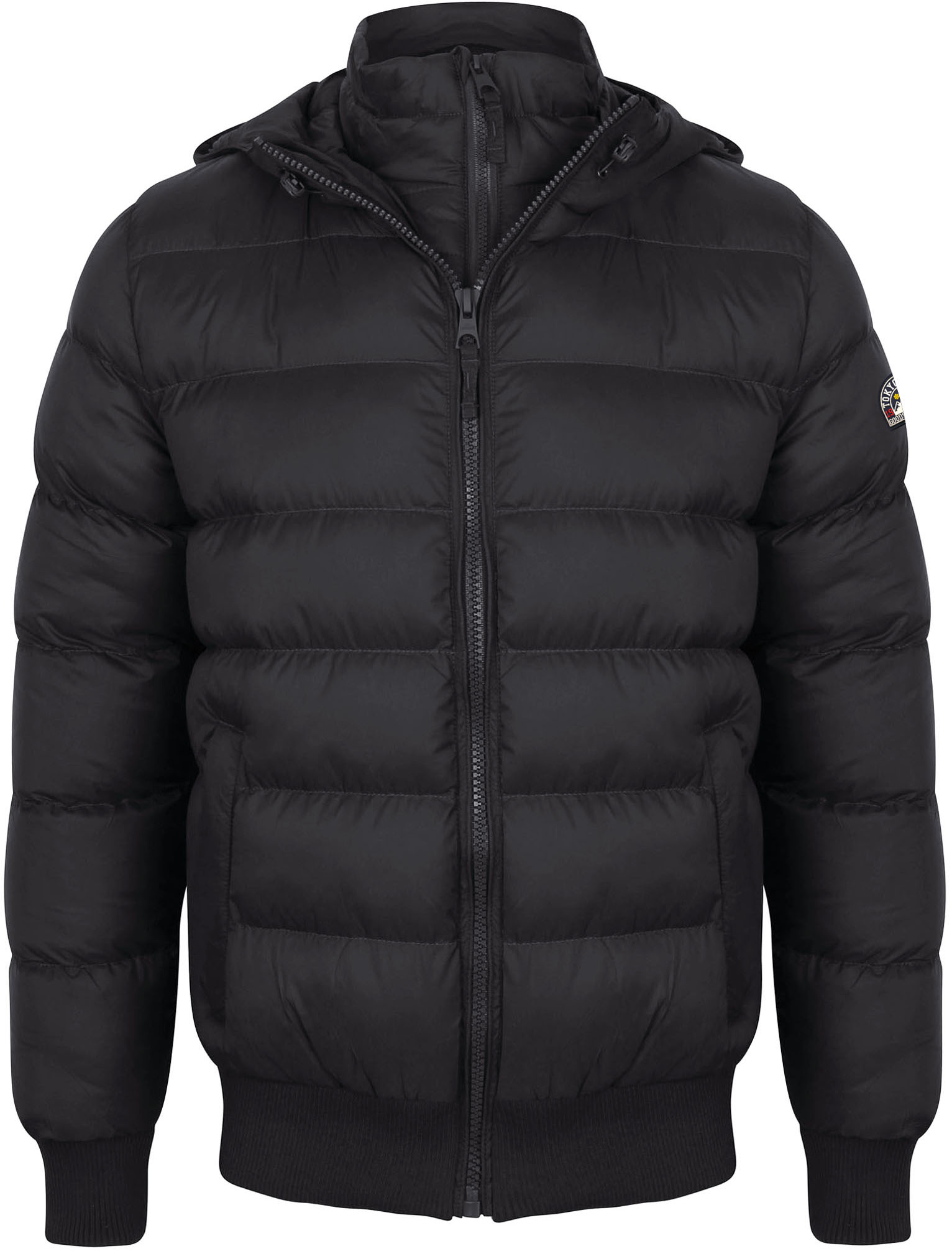 New Mens Tokyo Laundry Proctor Funnel Neck Hooded Puffer