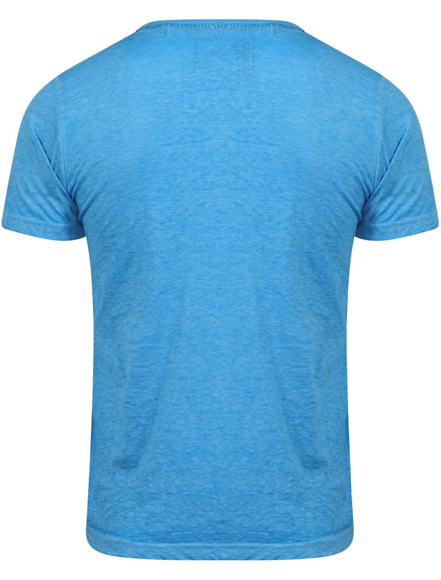 New-Mens-Dissident-Newburn-Motif-Burnout-V-Neck-Short-Sleeved-T-Shirt-Size-S-XXL