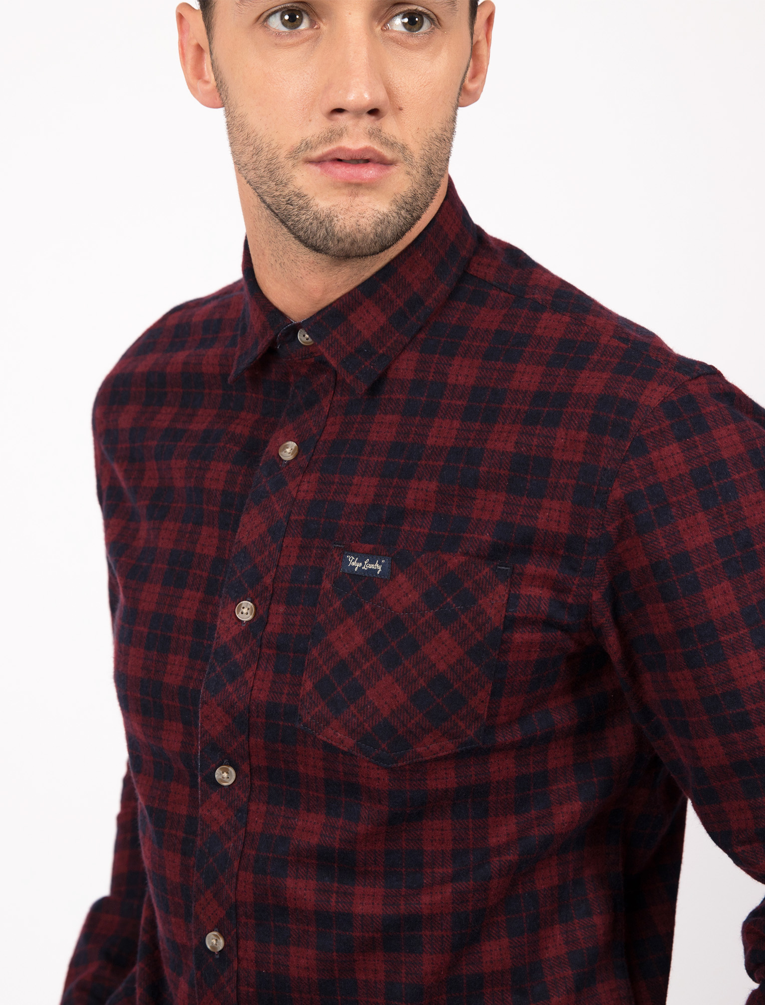 New-Mens-Tokyo-Laundry-Cotton-Long-Sleeve-Checked-Flannel-Shirt-Size-S-XL thumbnail 19