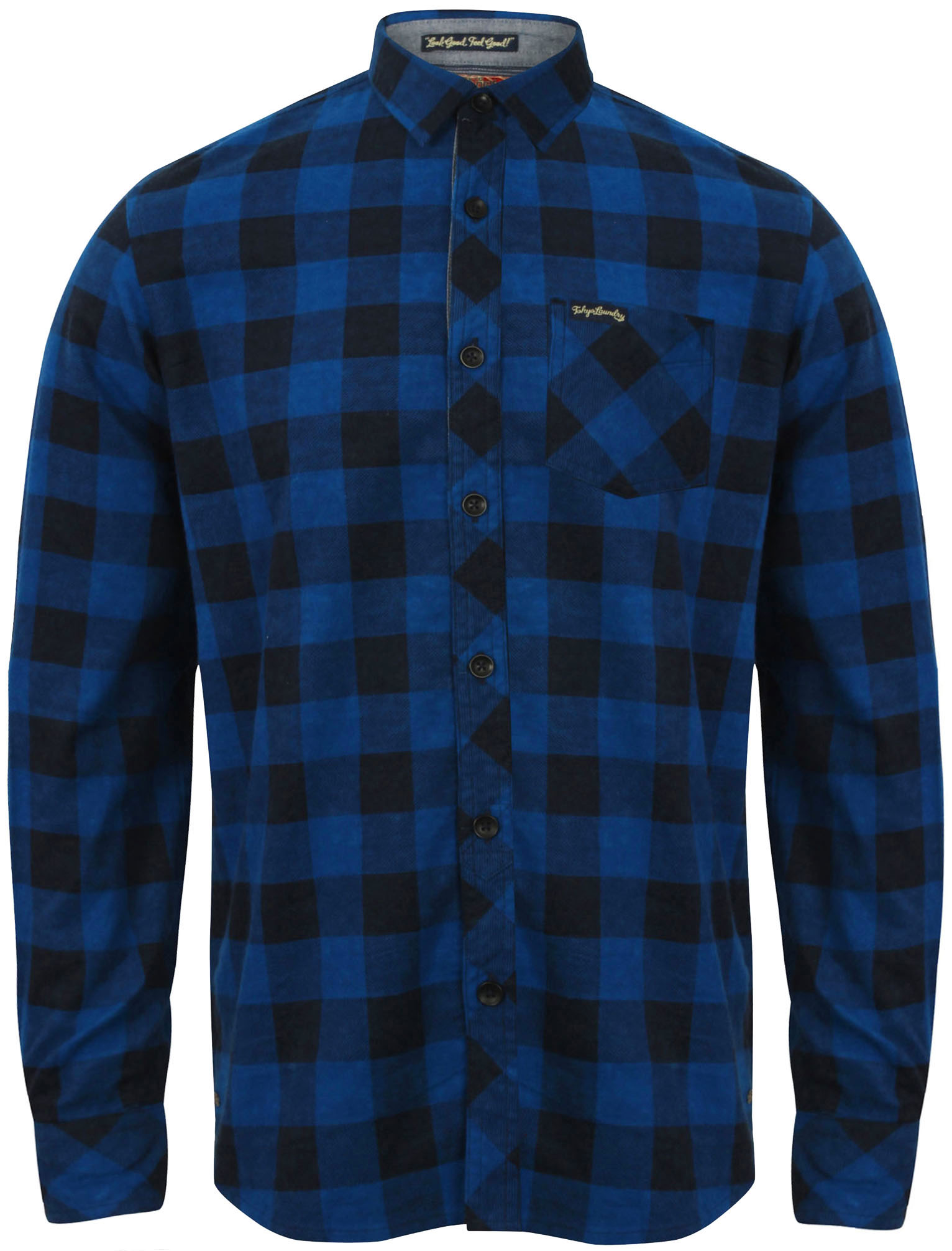 New-Mens-Tokyo-Laundry-Cotton-Long-Sleeve-Checked-Flannel-Shirt-Size-S-XL thumbnail 7