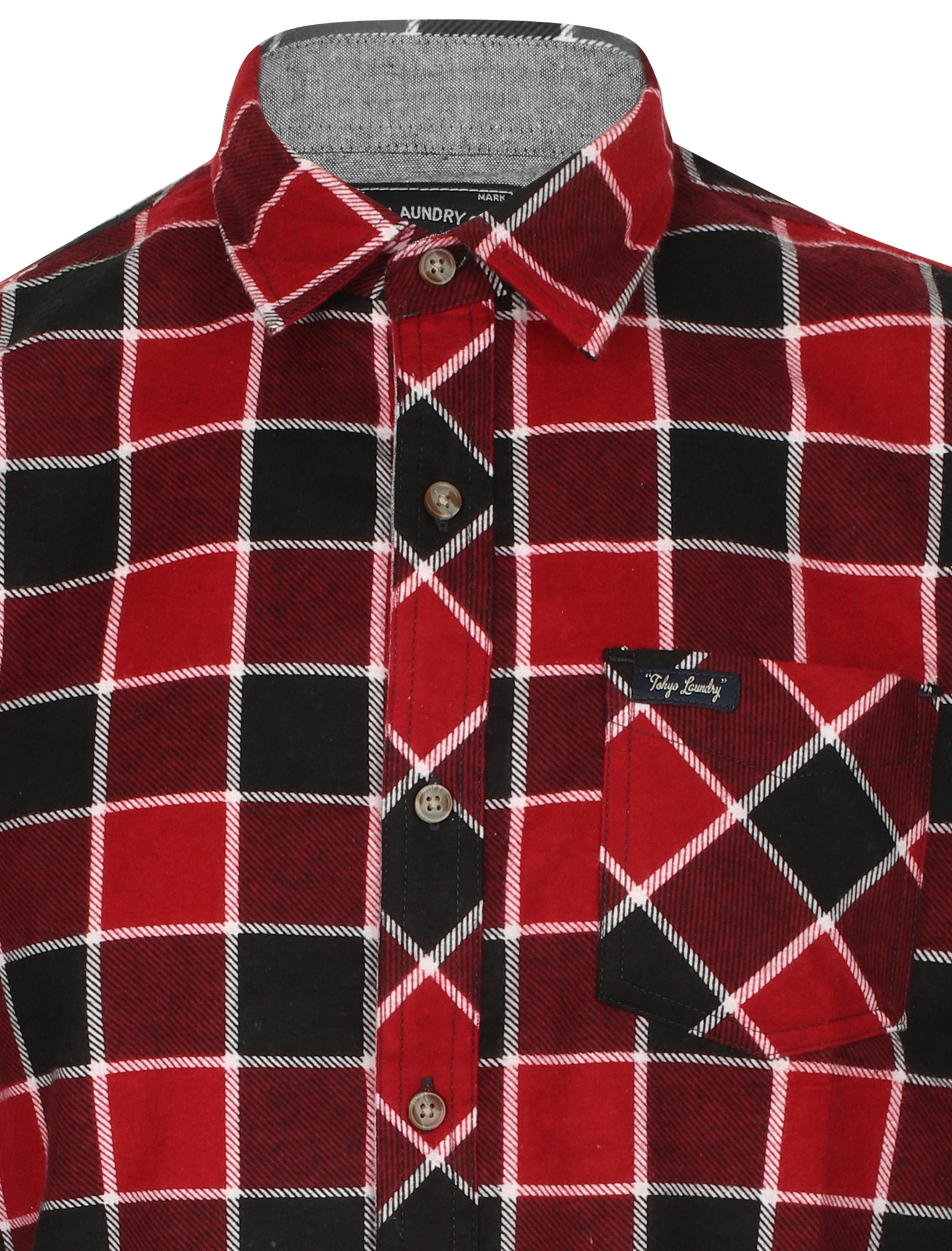 New-Mens-Tokyo-Laundry-Cotton-Long-Sleeve-Checked-Flannel-Shirt-Size-S-XL thumbnail 26