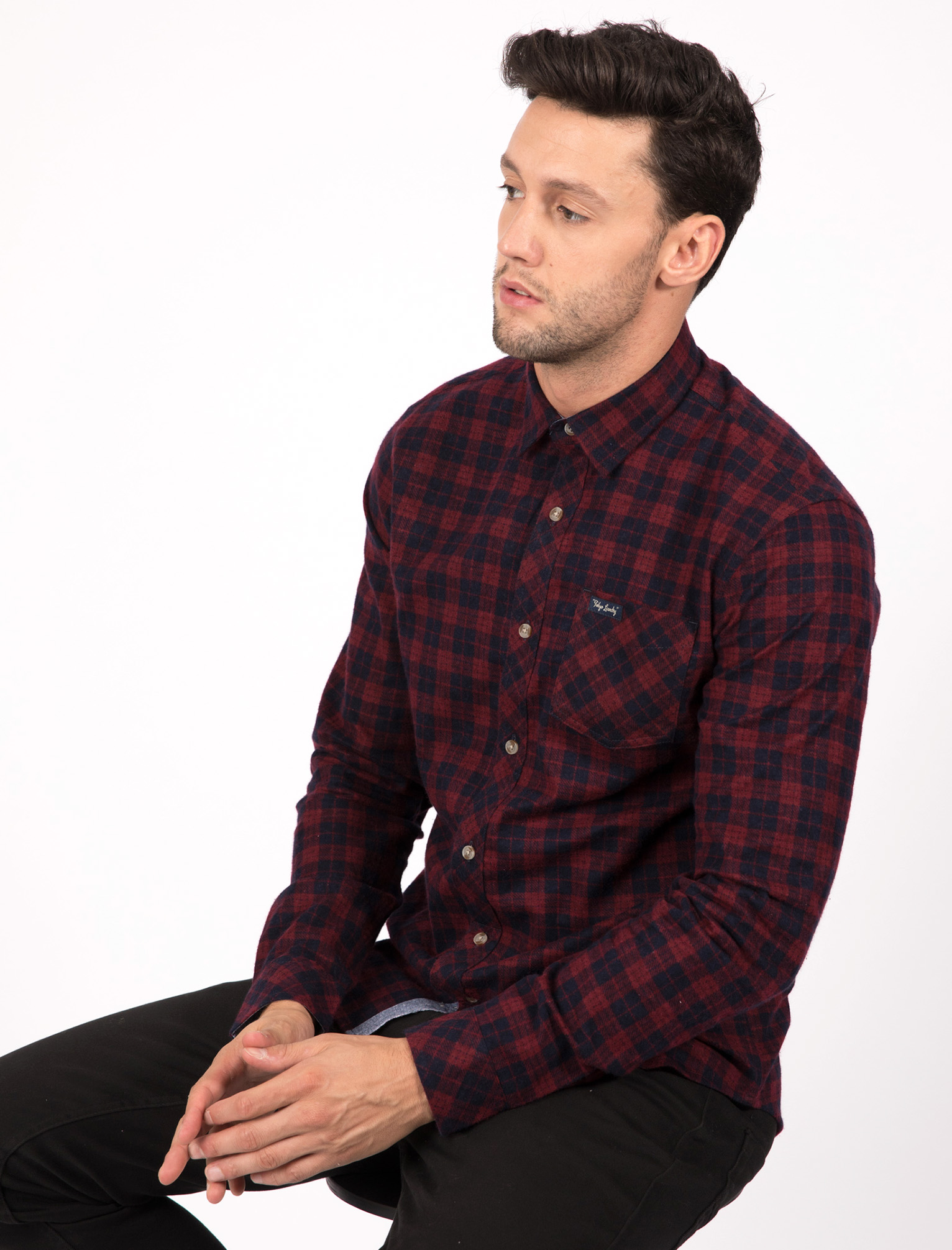 New-Mens-Tokyo-Laundry-Cotton-Long-Sleeve-Checked-Flannel-Shirt-Size-S-XL thumbnail 18