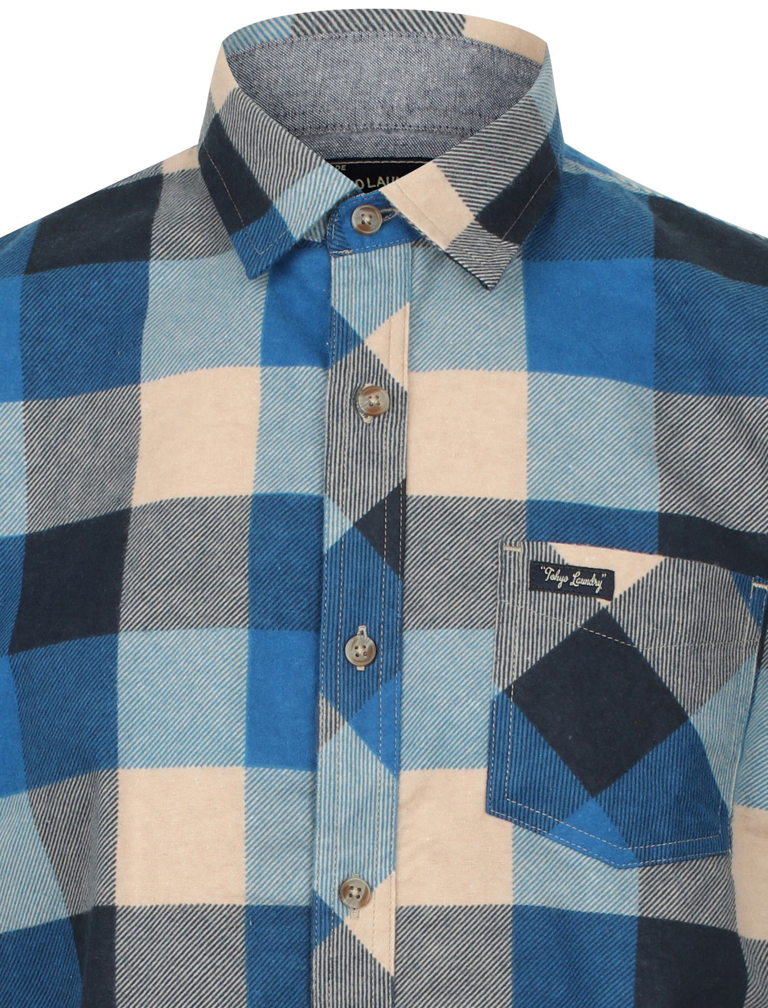 New-Mens-Tokyo-Laundry-Cotton-Long-Sleeve-Checked-Flannel-Shirt-Size-S-XXL thumbnail 26