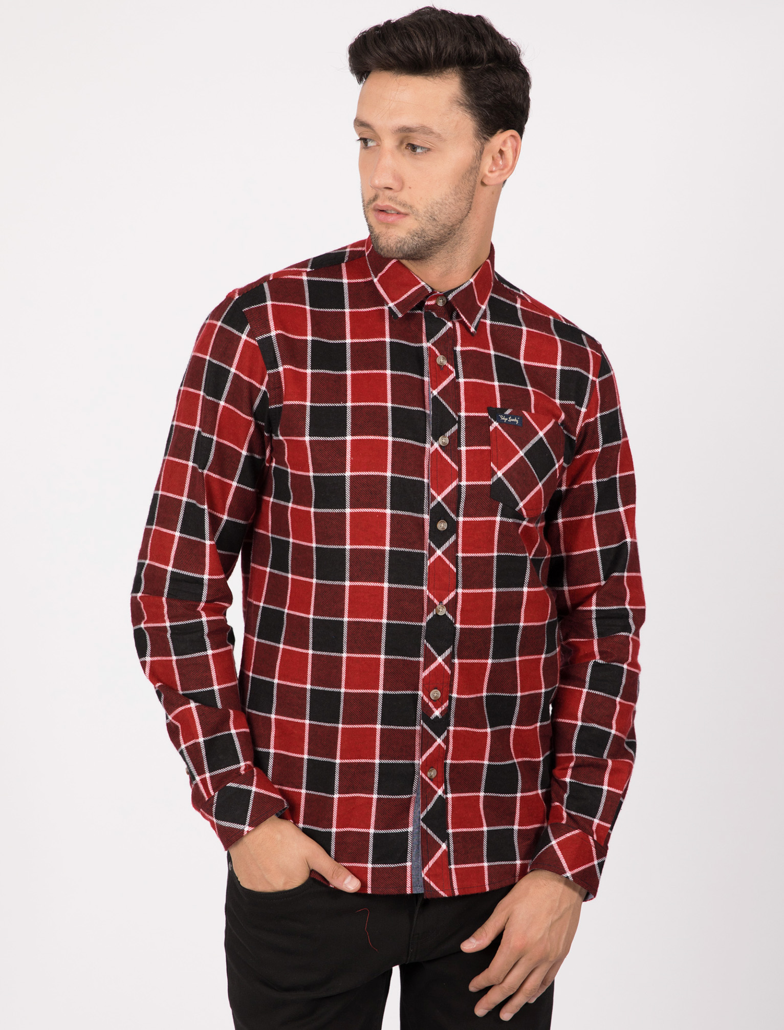 New-Mens-Tokyo-Laundry-Cotton-Long-Sleeve-Checked-Flannel-Shirt-Size-S-XL thumbnail 28