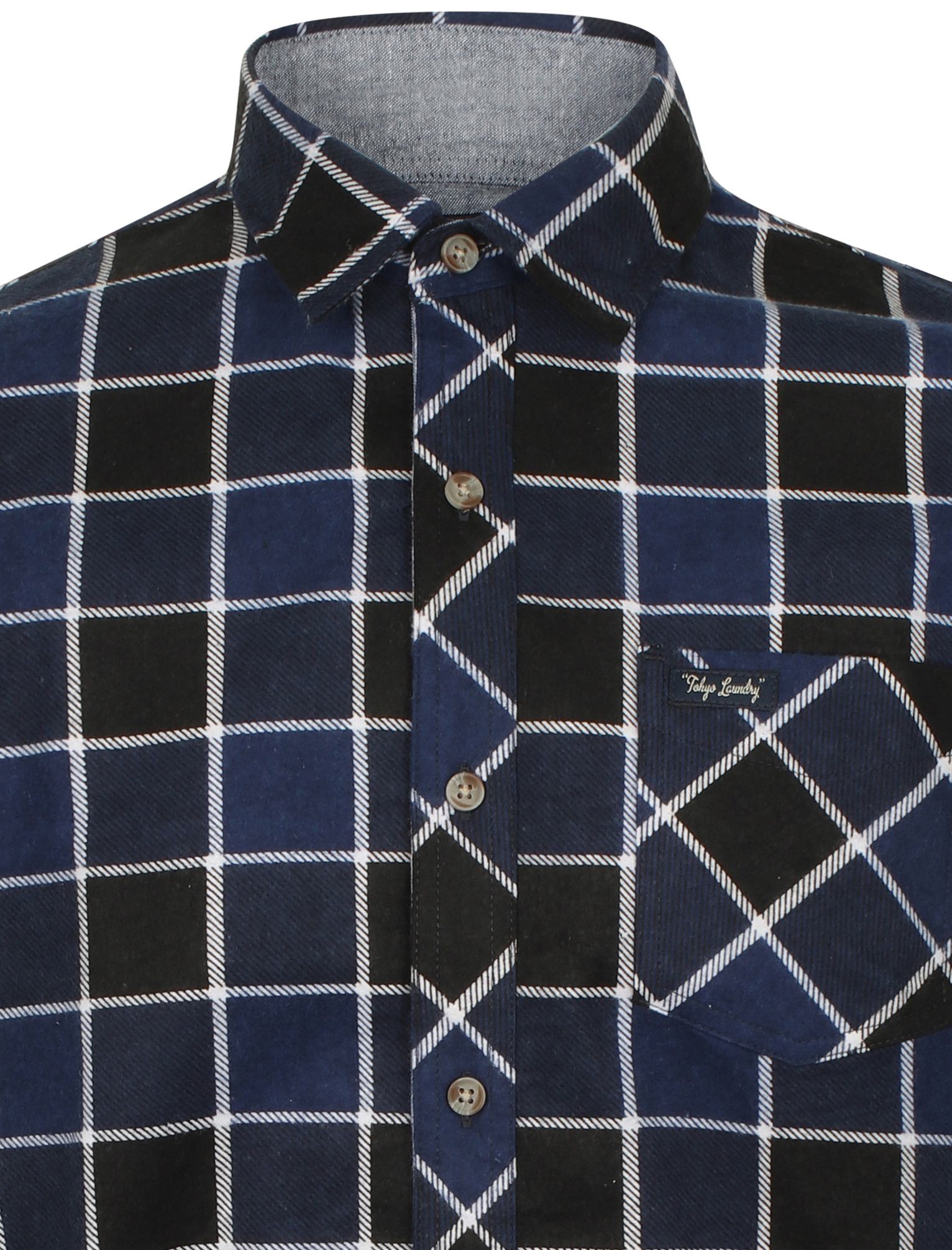 New-Mens-Tokyo-Laundry-Cotton-Long-Sleeve-Checked-Flannel-Shirt-Size-S-XXL thumbnail 4