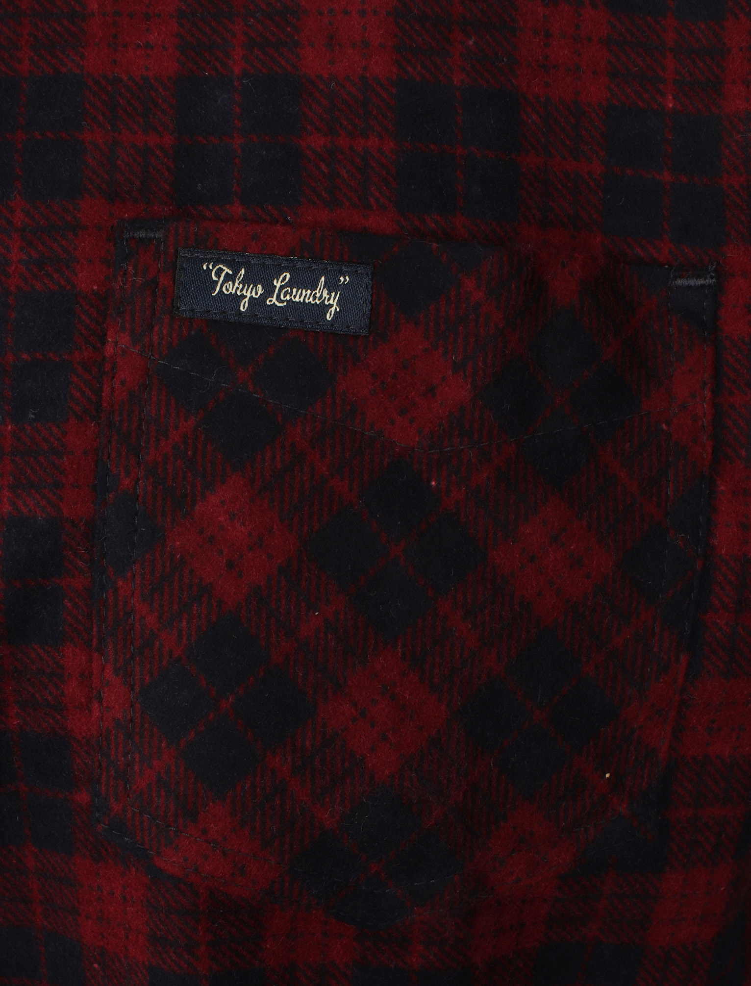 New-Mens-Tokyo-Laundry-Cotton-Long-Sleeve-Checked-Flannel-Shirt-Size-S-XL thumbnail 17
