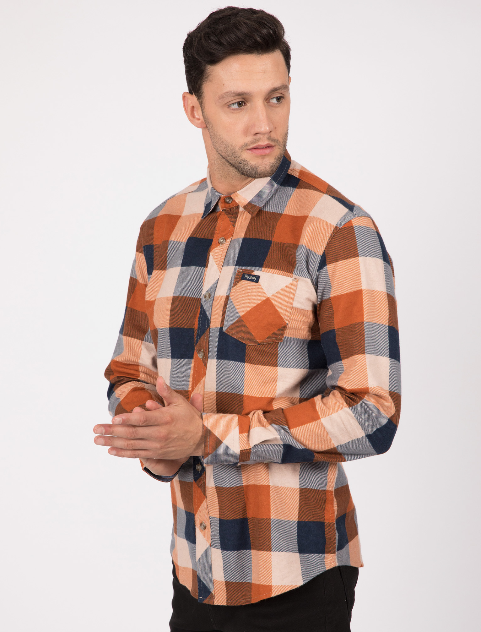 New-Mens-Tokyo-Laundry-Cotton-Long-Sleeve-Checked-Flannel-Shirt-Size-S-XXL thumbnail 23