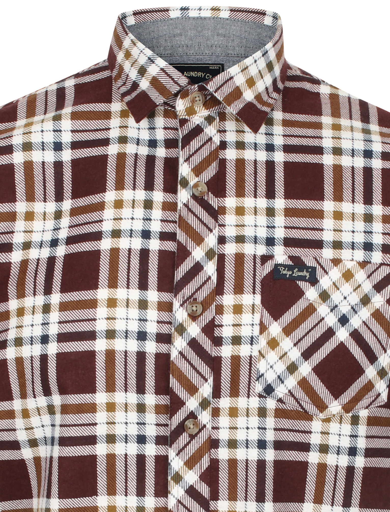 New-Mens-Tokyo-Laundry-Cotton-Long-Sleeve-Checked-Flannel-Shirt-Size-S-XL thumbnail 31