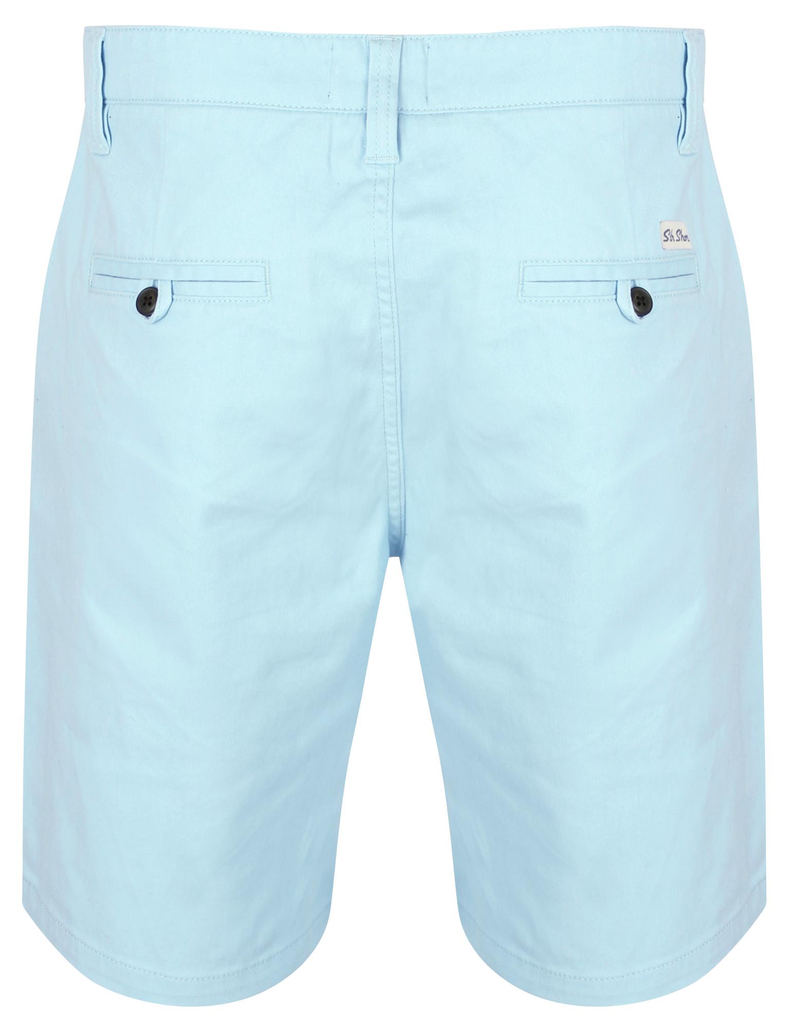 South-Shore-uomo-Scotch-Tinta-Unita-Cotone-Twill-Casual-Jeans-Corti-Chino-Taglia-S-XXL miniatura 13