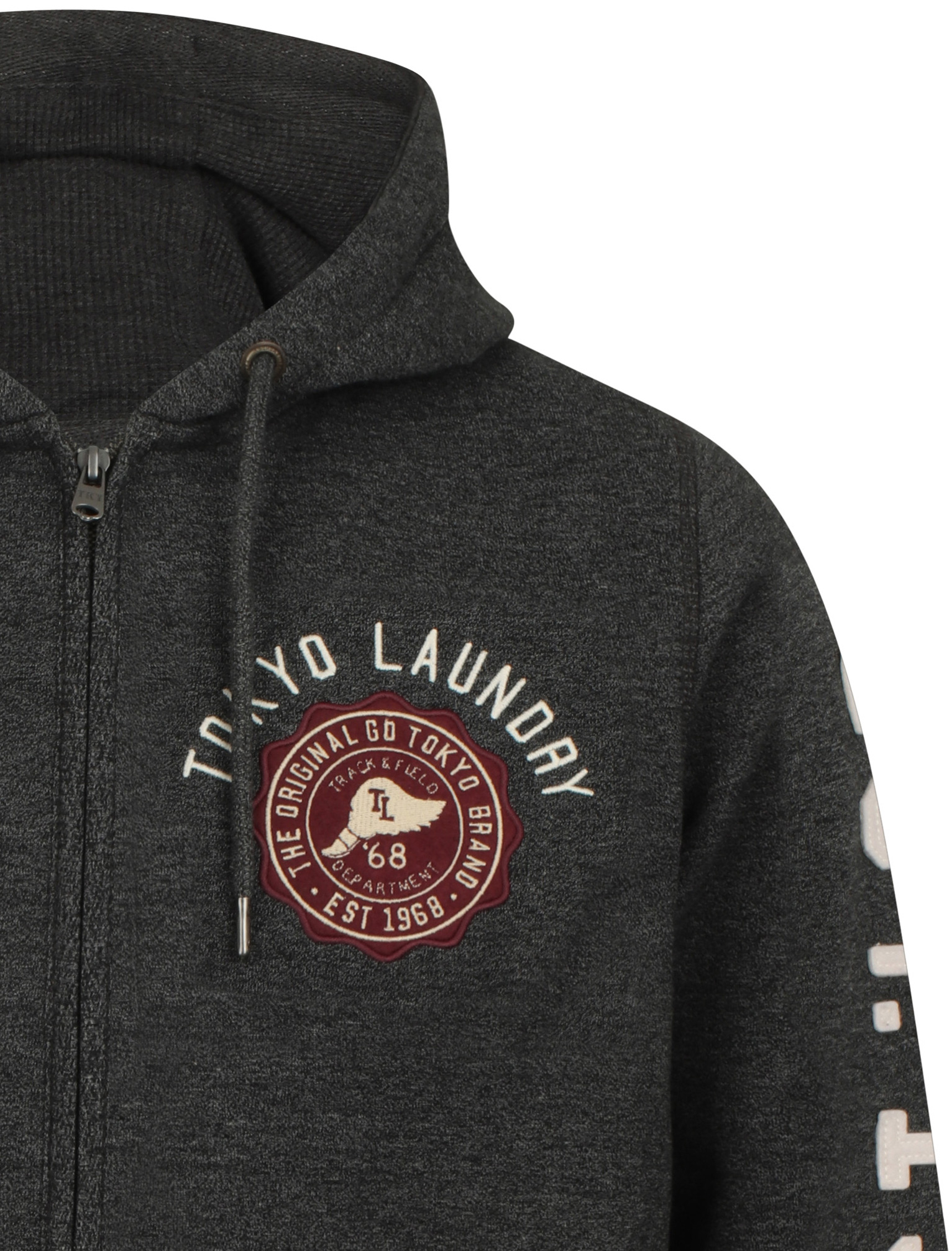 Tokyo-Laundry-Men-039-s-Hampton-Zip-Through-Hoodie-Hooded-Top thumbnail 4