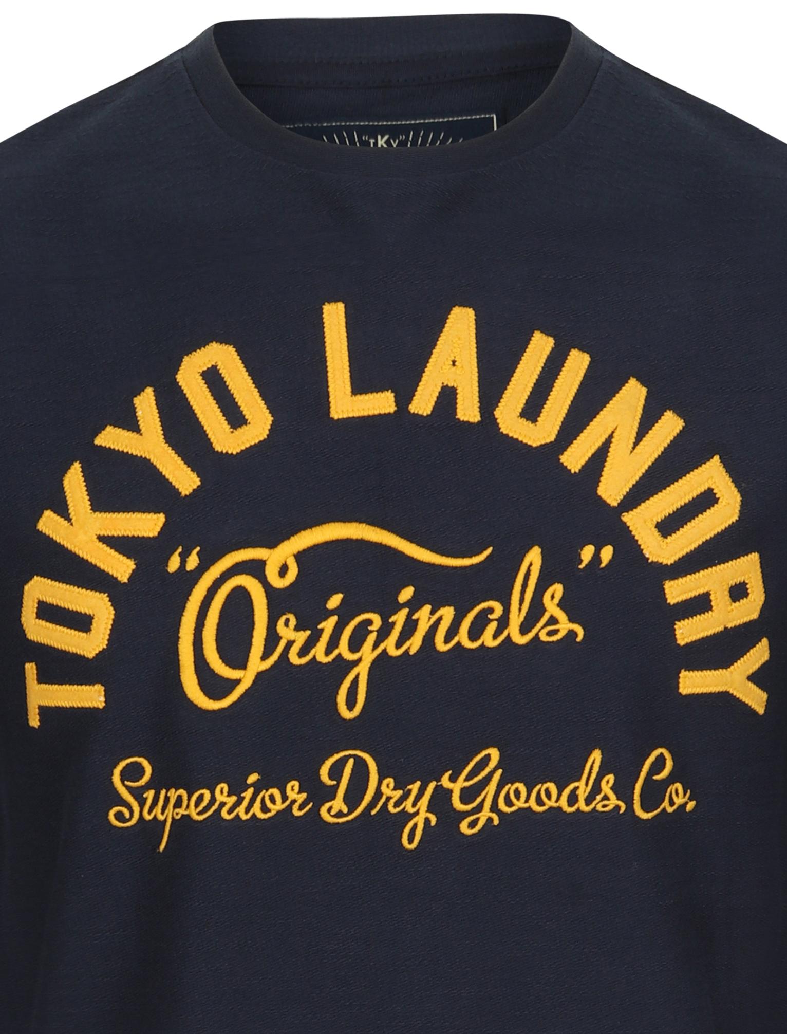 Tokyo Laundry homme Washington à encolure ras-du-cou T-shirt homme à manches longues 100/% coton