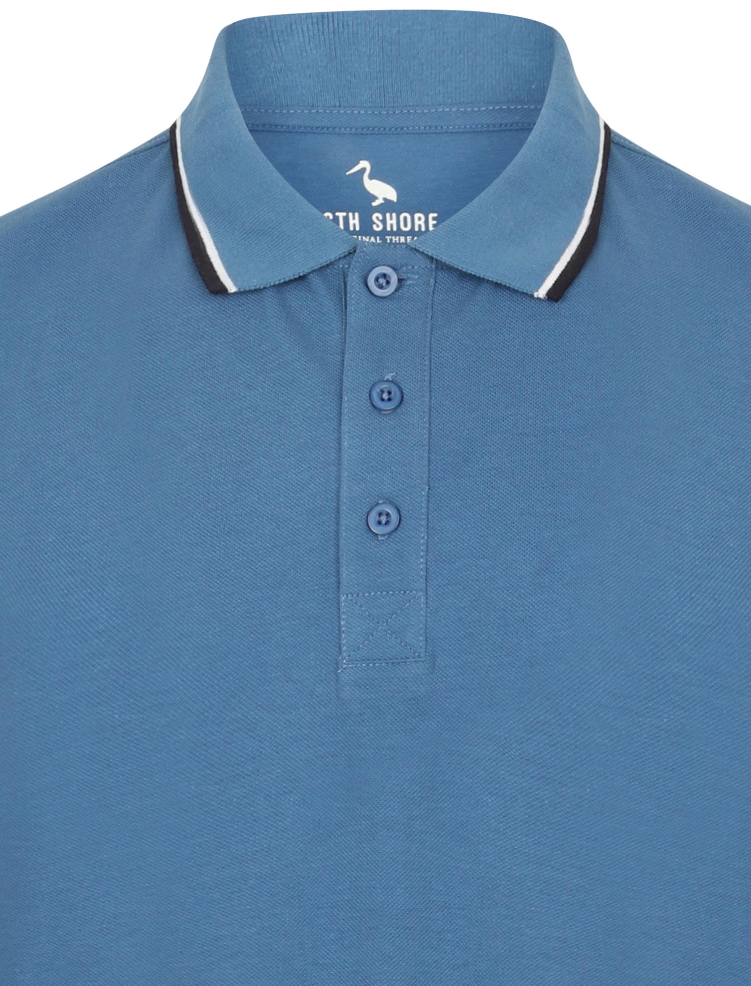Sth-Shore-Mens-Plain-Polo-Shirt-100-Pique-Cotton-T-Shirt-Top-Collar-Size-M-XXL thumbnail 12