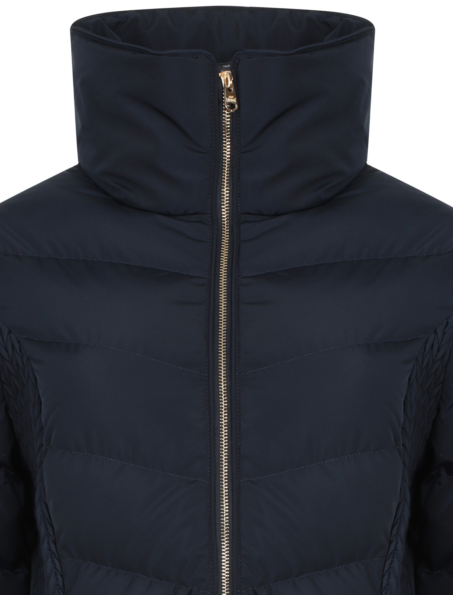 Tokyo-Laundry-Women-039-s-Shiso-Funnel-Neck-Padded-Quilted-Puffer-Coat-Longline thumbnail 4