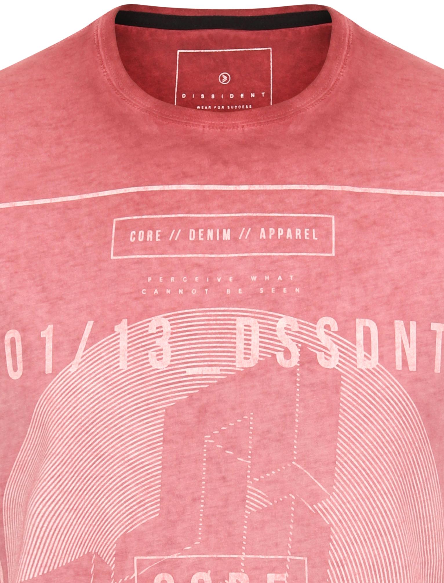 Dissident Men/'s Impossible Burnout T-Shirt Crew Neck Vintage Retro Graphic Print