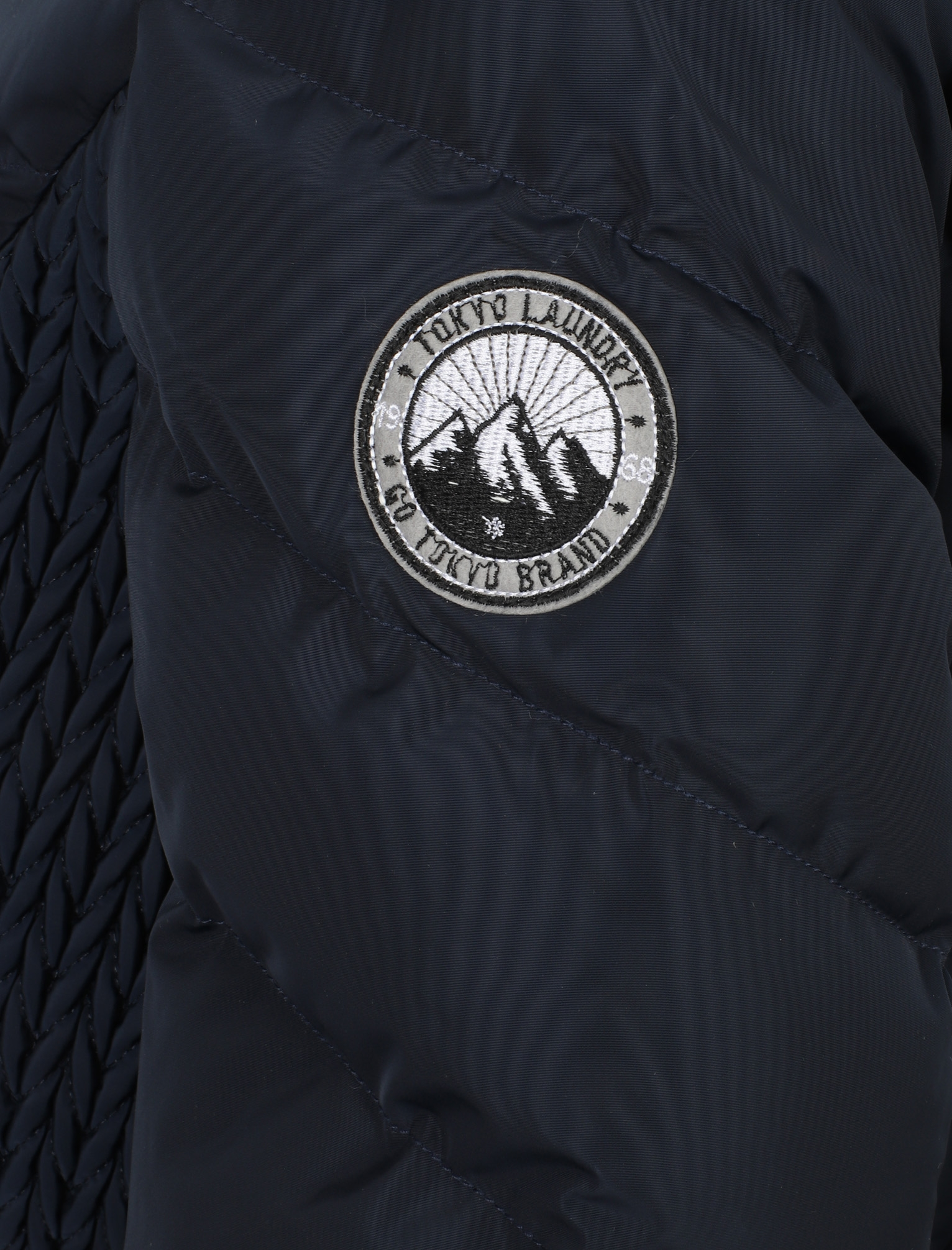 Tokyo-Laundry-Women-039-s-Shiso-Funnel-Neck-Padded-Quilted-Puffer-Coat-Longline thumbnail 6