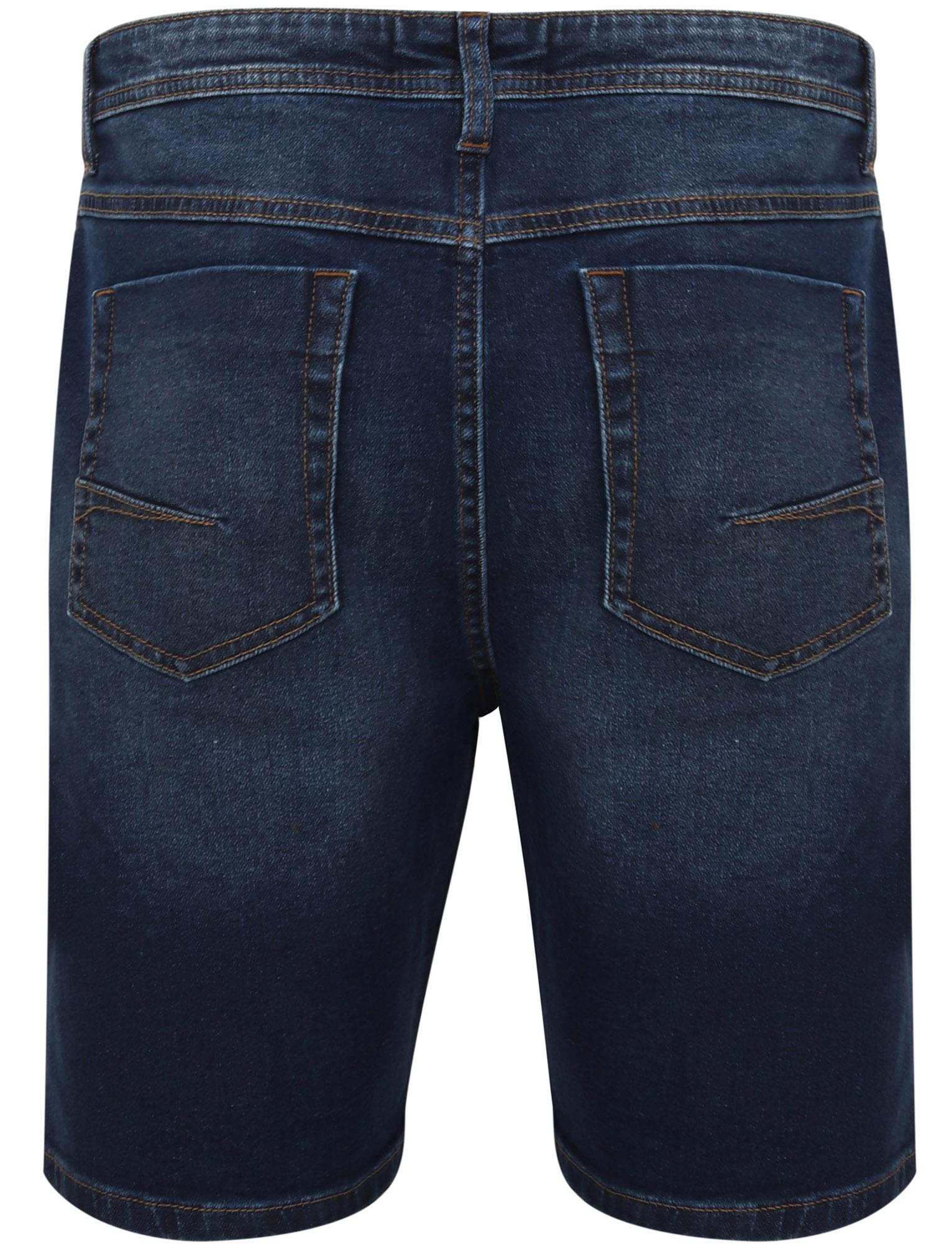 Tokyo-Laundry-Mens-Stretch-Denim-Shorts-Chino-Jean-Vintage-Dark-Light-Wash-Slim thumbnail 11