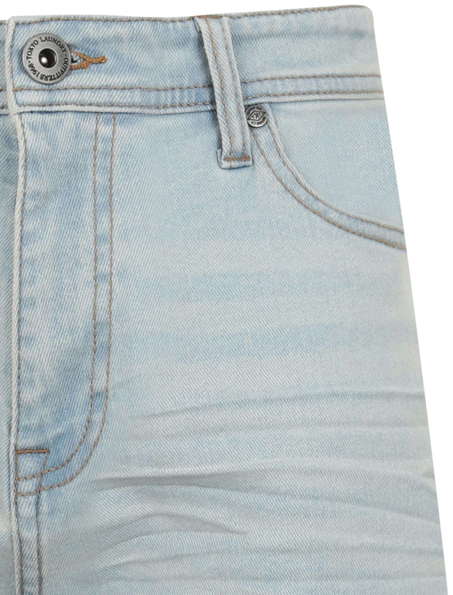 Tokyo-Laundry-Mens-Stretch-Denim-Shorts-Chino-Jean-Vintage-Dark-Light-Wash-Slim thumbnail 4