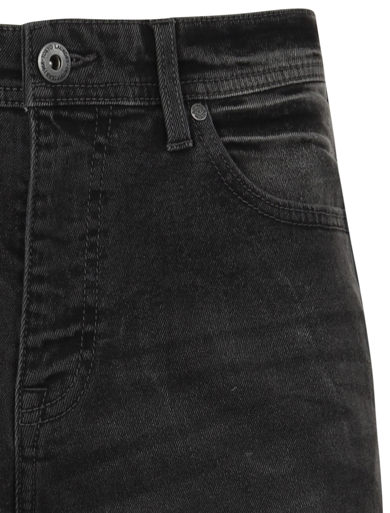 Tokyo-Laundry-Mens-Stretch-Denim-Shorts-Chino-Jean-Vintage-Dark-Light-Wash-Slim thumbnail 8