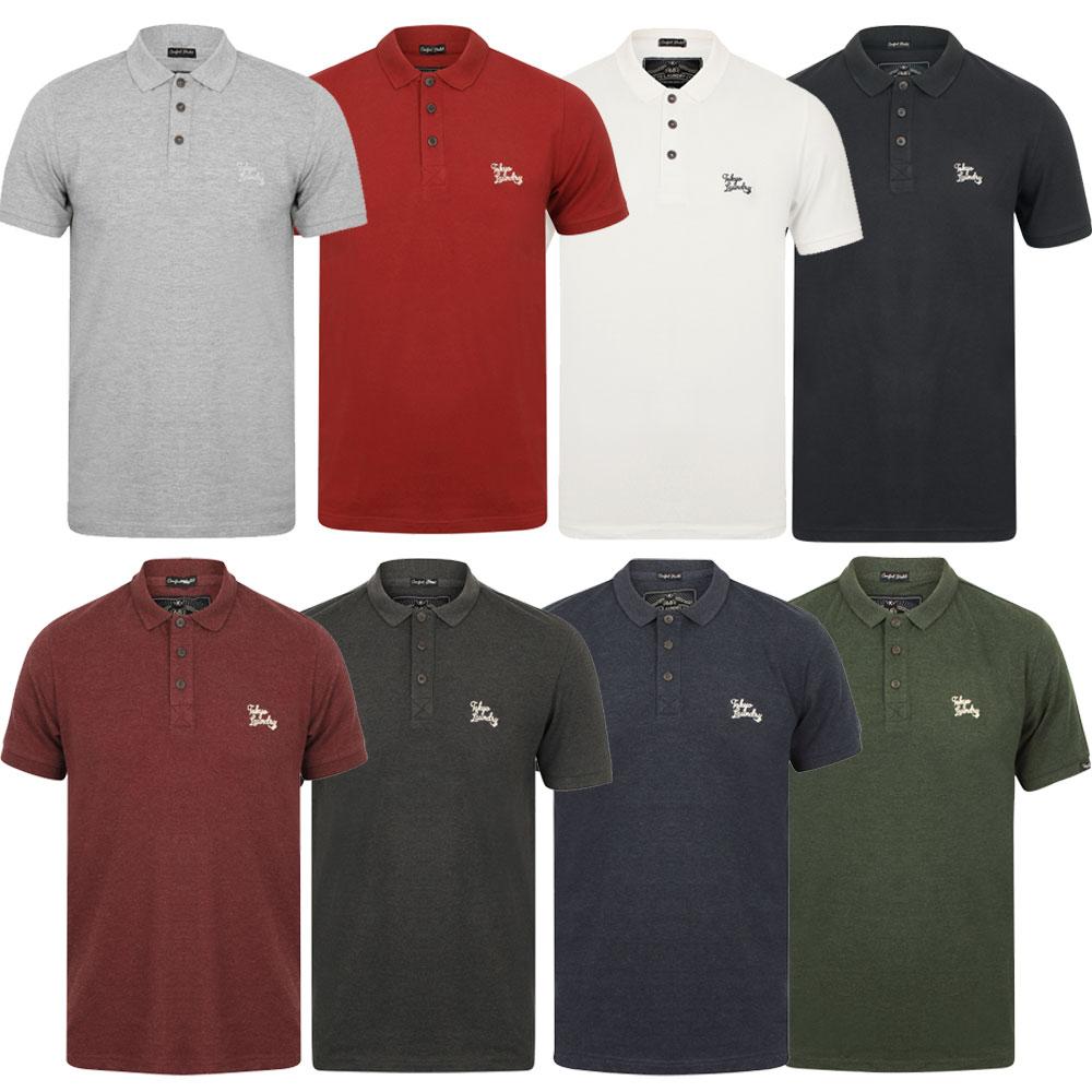 New Mens Tokyo Laundry Branded Kuusamo Cotton Rich Pique Polo Shirt Size S XXL