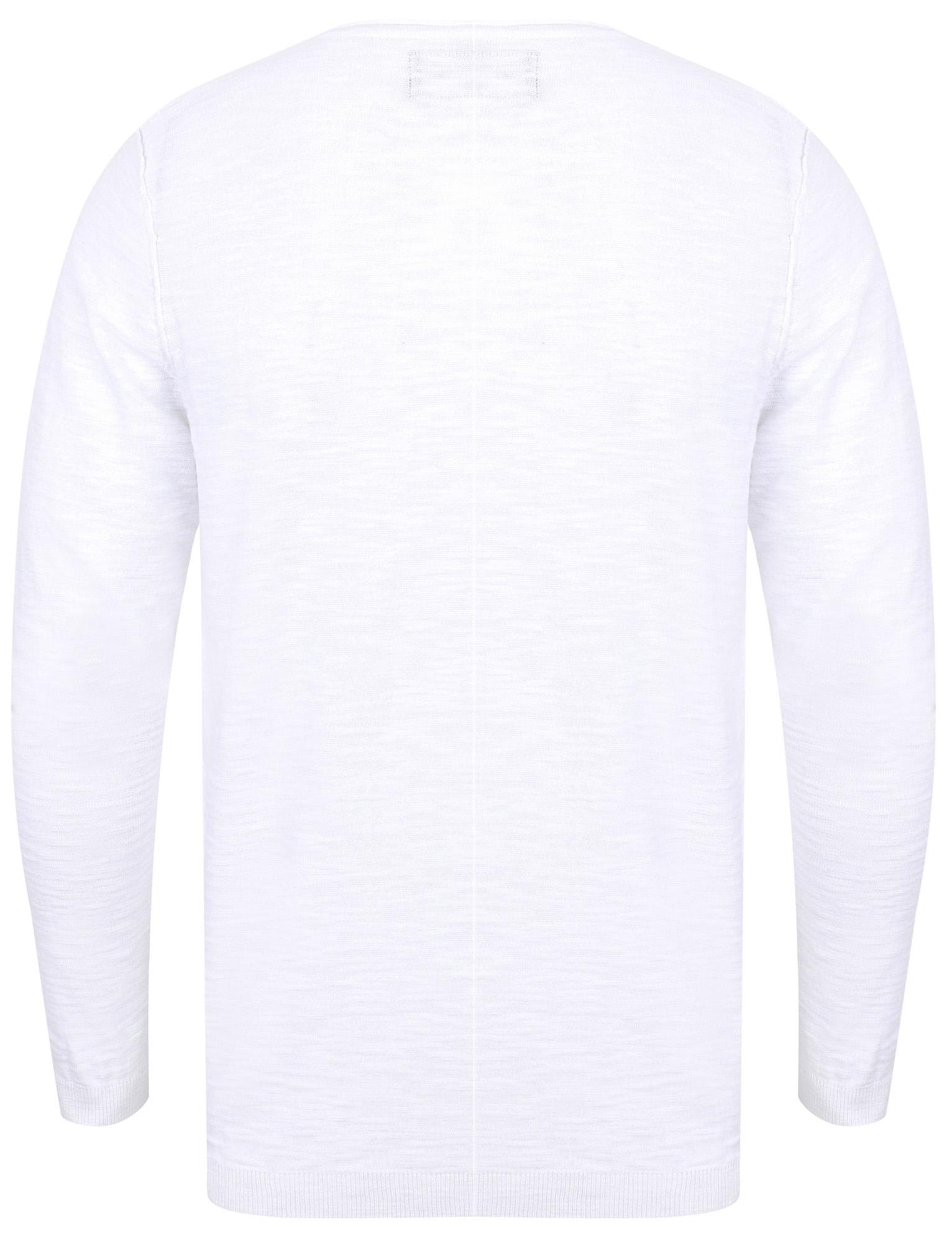 XXL New Mens Dissdent Hoggle Henley Y-Neck Cotton Rich Striped Jumper Size S