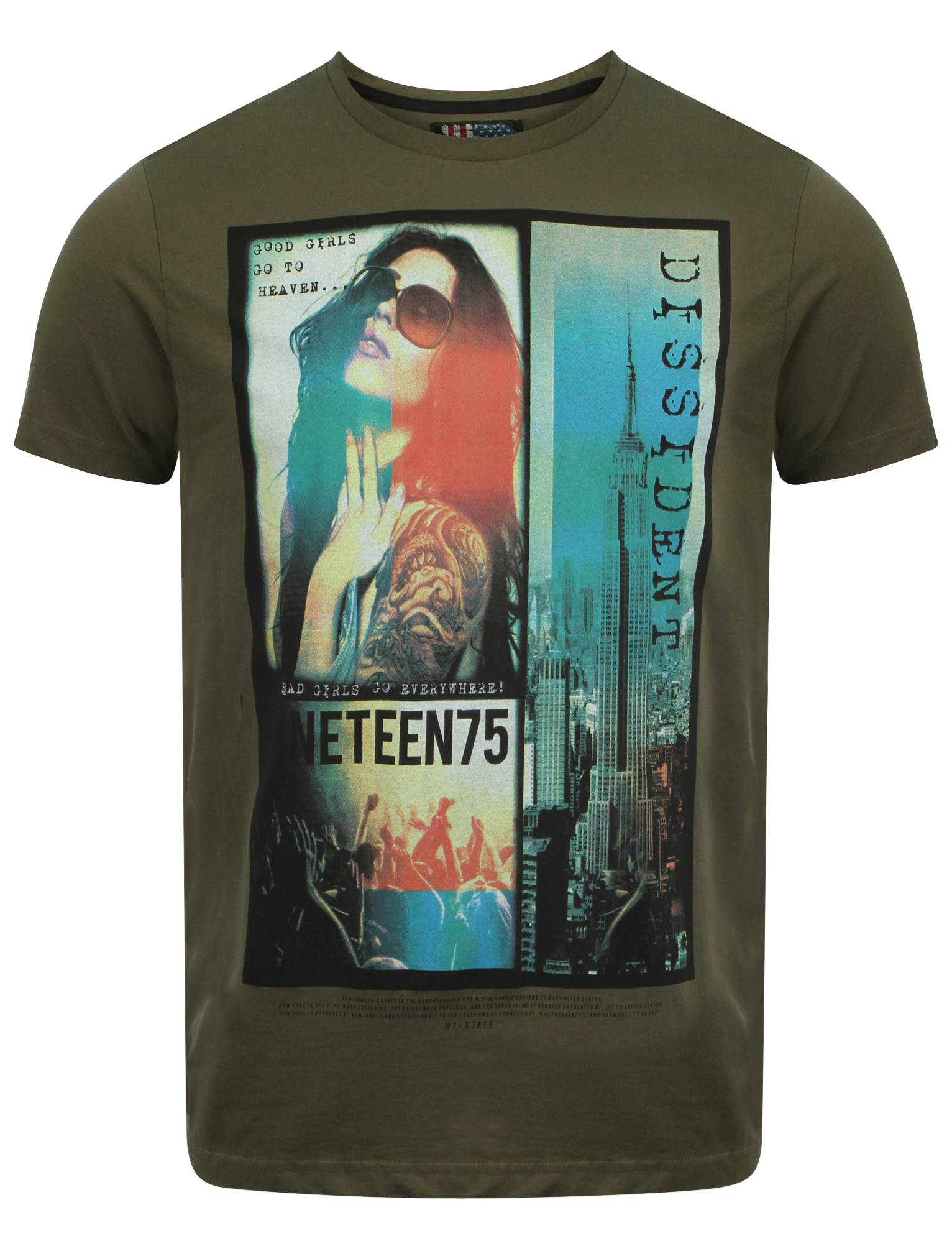 New-Mens-Dissident-Girl-Shades-Graphic-Print-T-Shirt-Short-Sleeve-Top-Size-S-XL