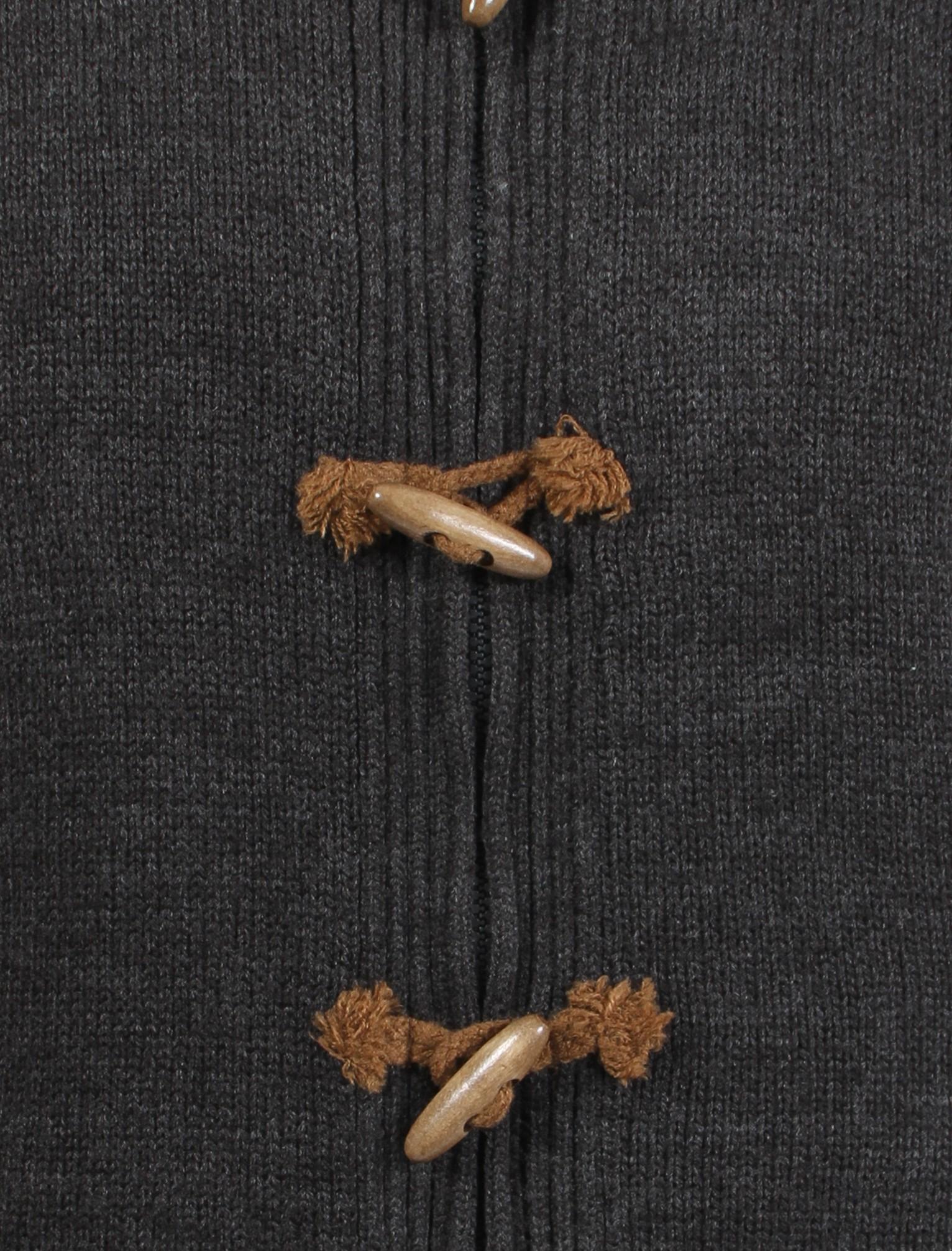 Herren-Tokyo-Laundry-Gesteppt-Kapuze-Reissverschluss-Knebelverschluss-Grobstrick-Cardigan-Groesse-S Indexbild 7