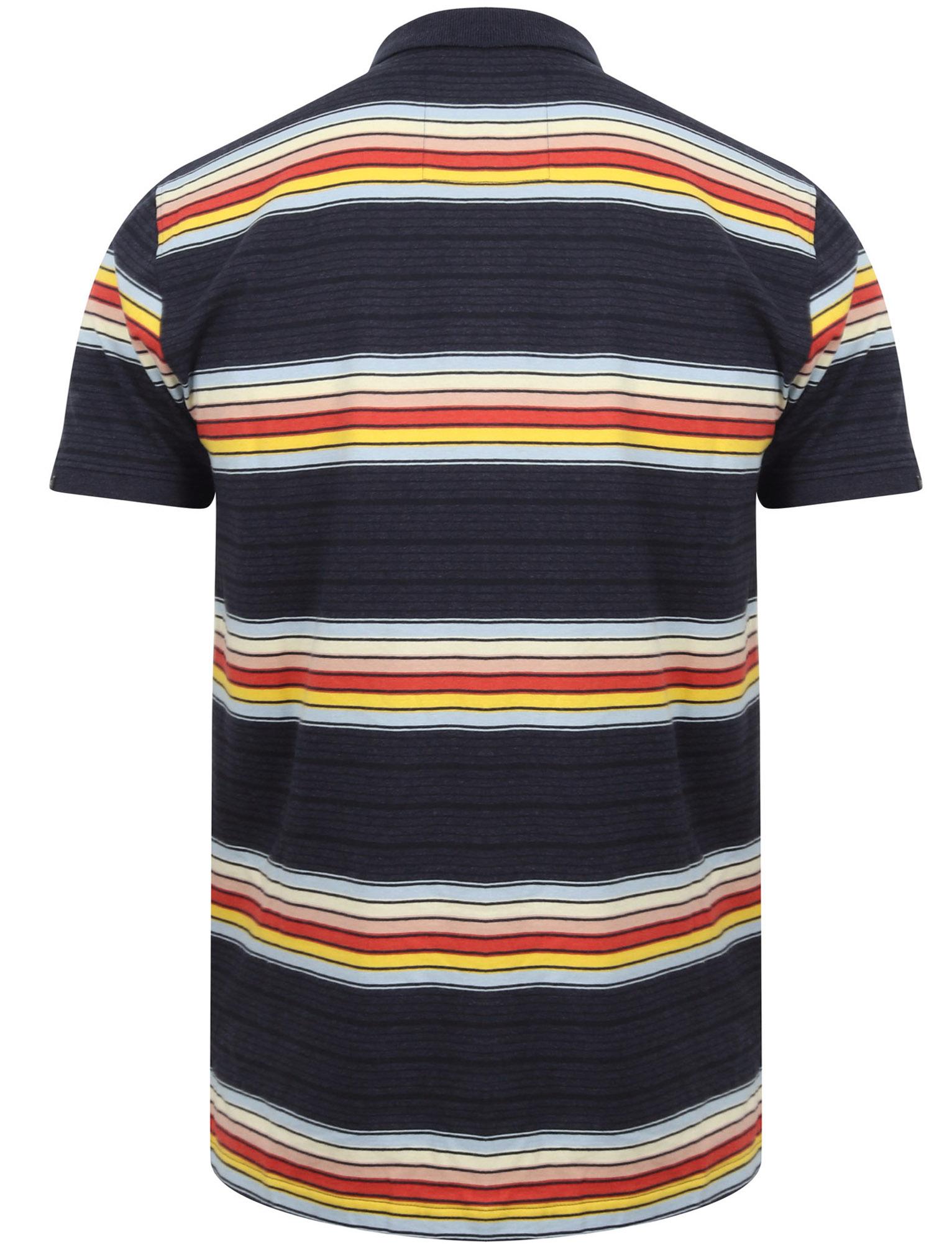Tokyo-Laundry-Men-039-s-Bakersfield-Striped-Polo-Shirt-Stripy-Retro-Vintage-T-Shirt thumbnail 5