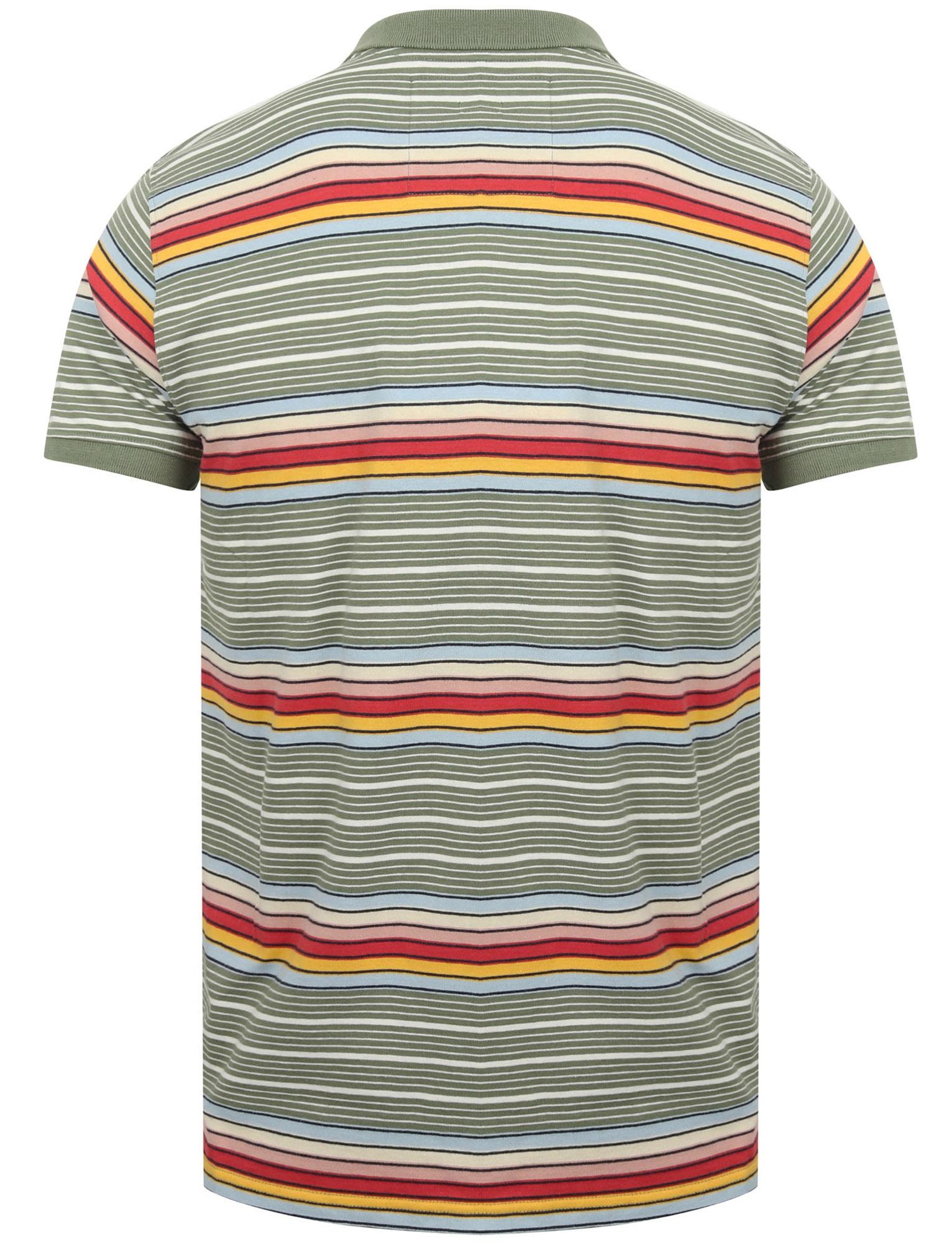 Tokyo-Laundry-Men-039-s-Bakersfield-Striped-Polo-Shirt-Stripy-Retro-Vintage-T-Shirt thumbnail 9