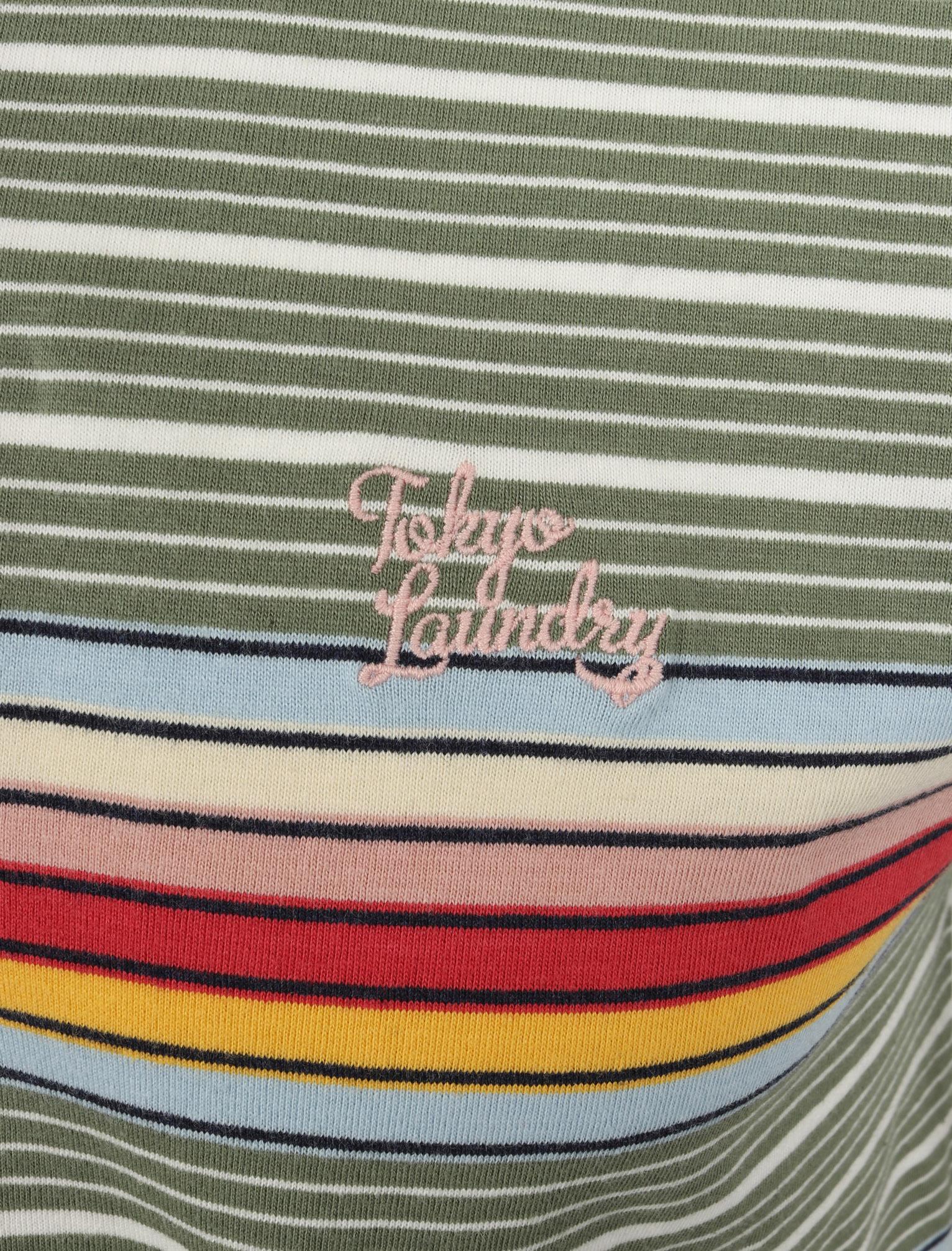 Tokyo-Laundry-Men-039-s-Bakersfield-Striped-Polo-Shirt-Stripy-Retro-Vintage-T-Shirt thumbnail 8