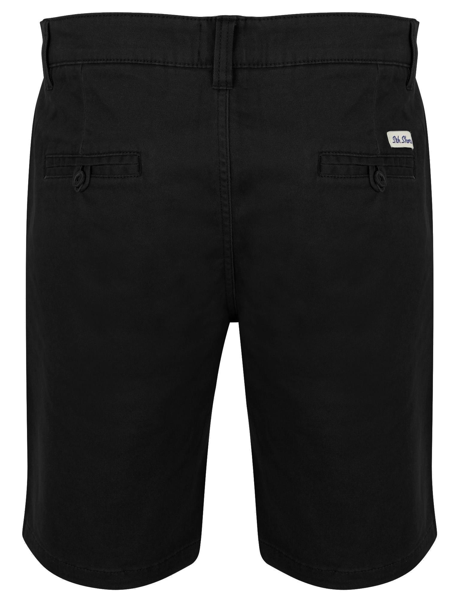 South-Shore-uomo-Scotch-Tinta-Unita-Cotone-Twill-Casual-Jeans-Corti-Chino-Taglia-S-XXL miniatura 5