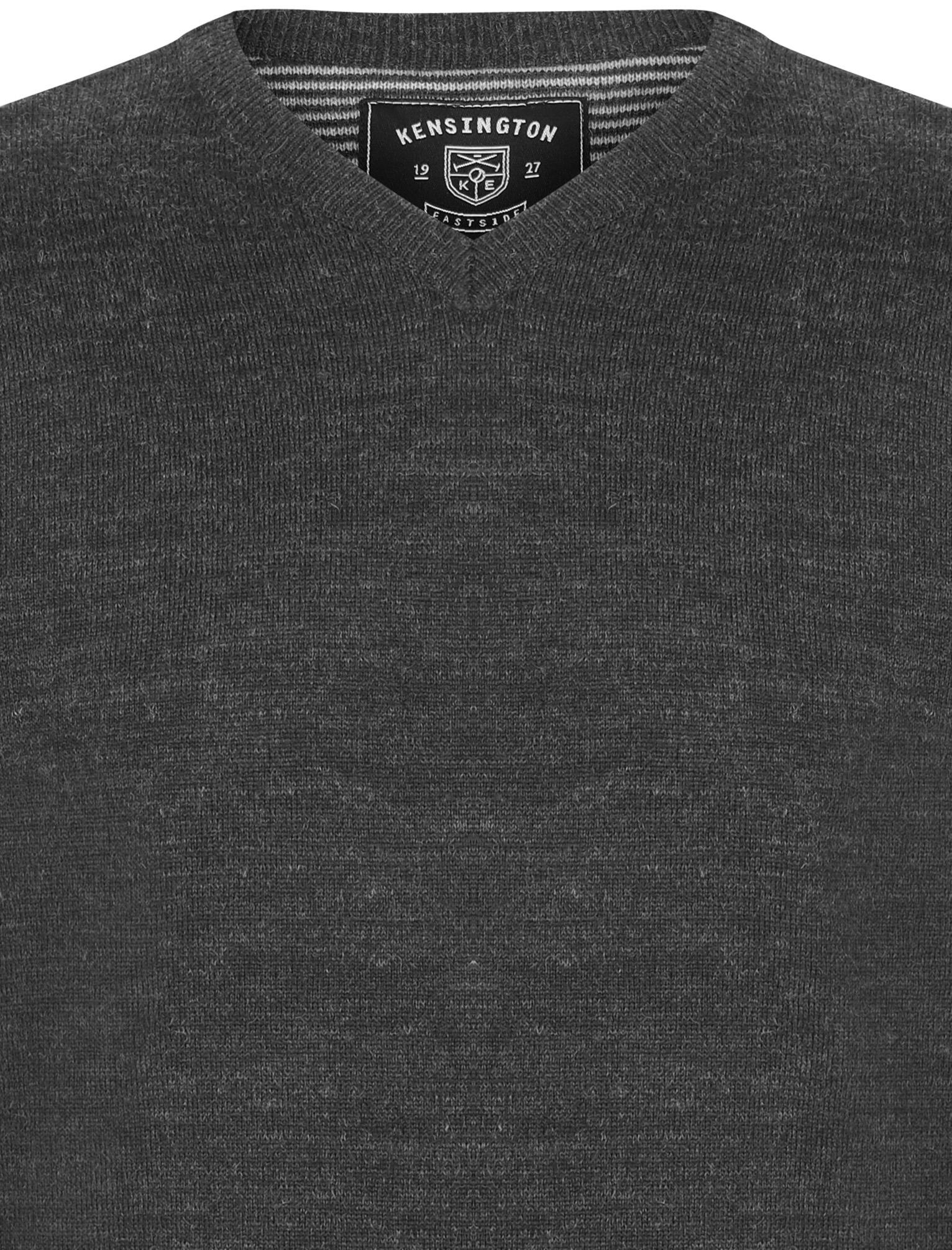 Kensington-Eastside-Men-039-s-Wool-Blend-Knitted-Crew-or-V-Neck-Jumper-Sweater-Top thumbnail 32