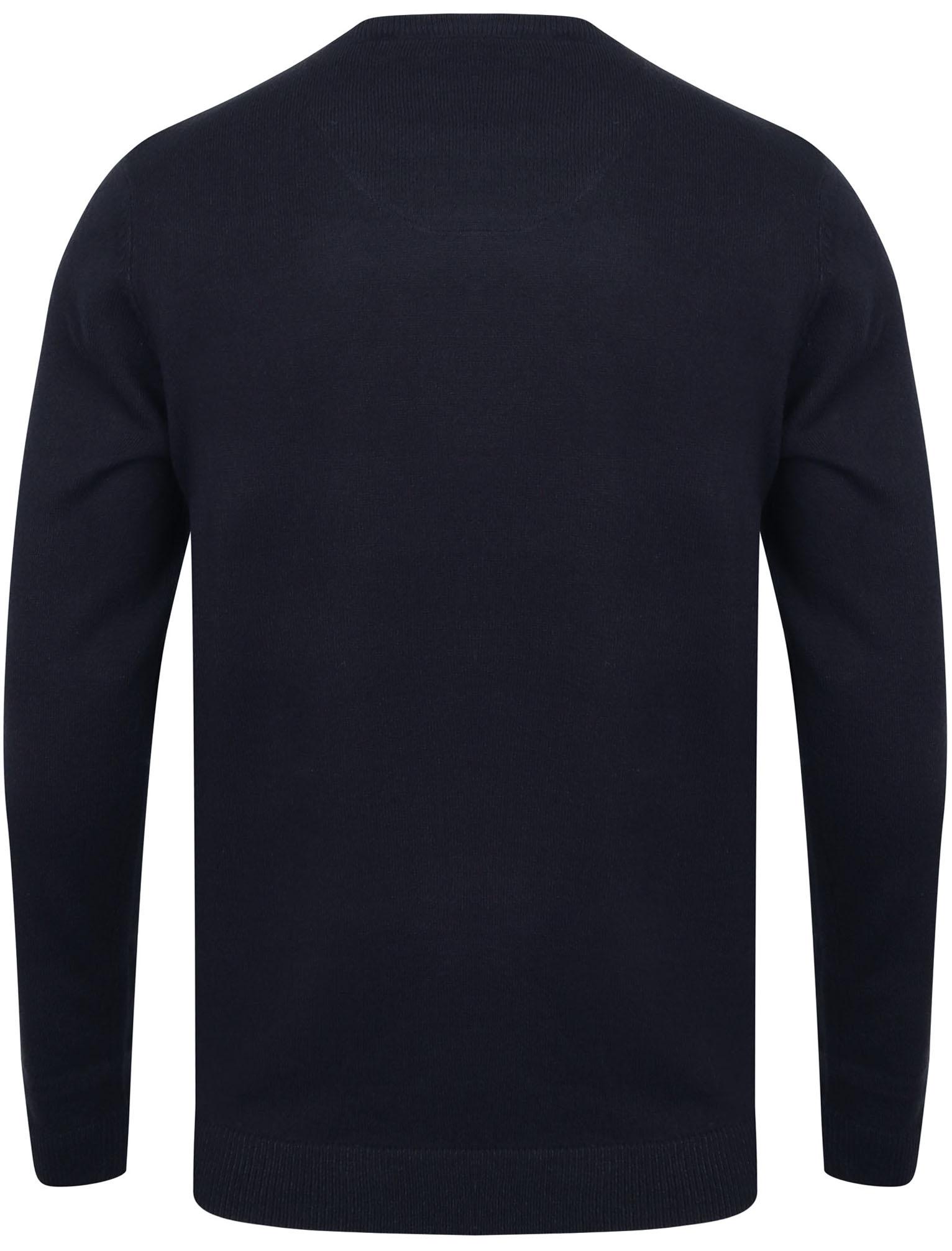 Kensington-Eastside-Men-039-s-Knitted-Crew-or-V-Neck-Jumper-Sweater-Top-Pullover thumbnail 23