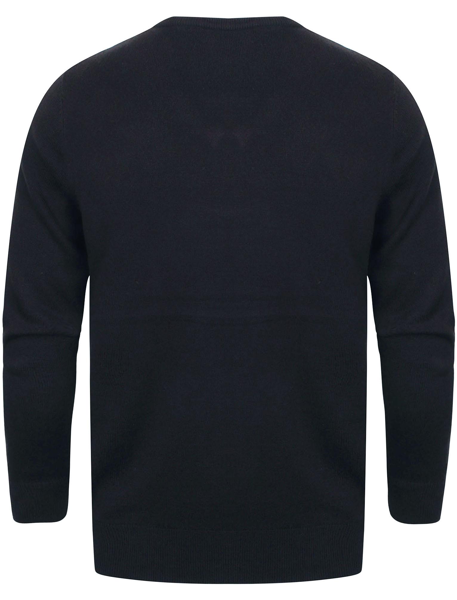 Kensington-Eastside-Men-039-s-Knitted-Crew-or-V-Neck-Jumper-Sweater-Top-Pullover thumbnail 98