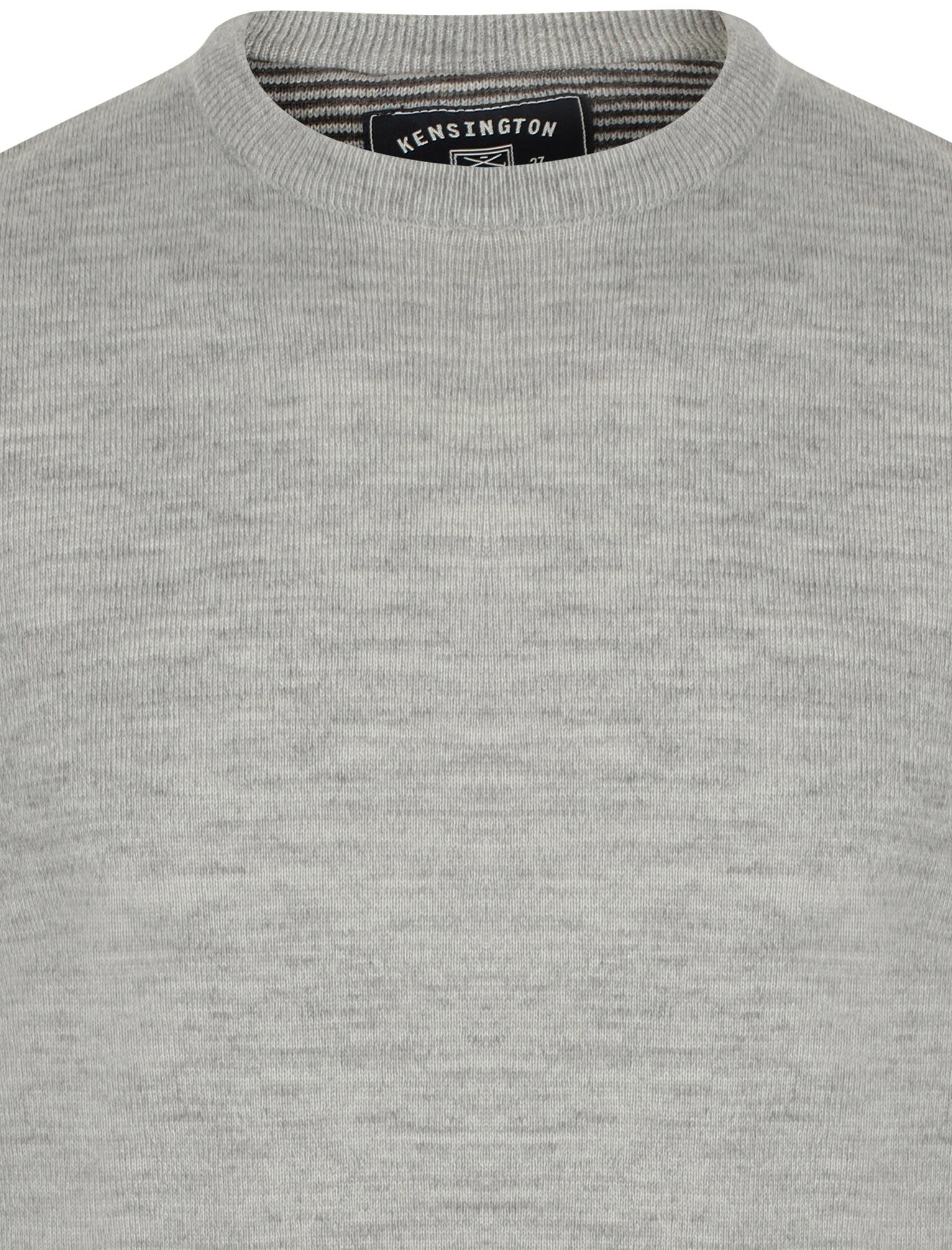 Kensington-Eastside-Men-039-s-Knitted-Crew-or-V-Neck-Jumper-Sweater-Top-Pullover thumbnail 12