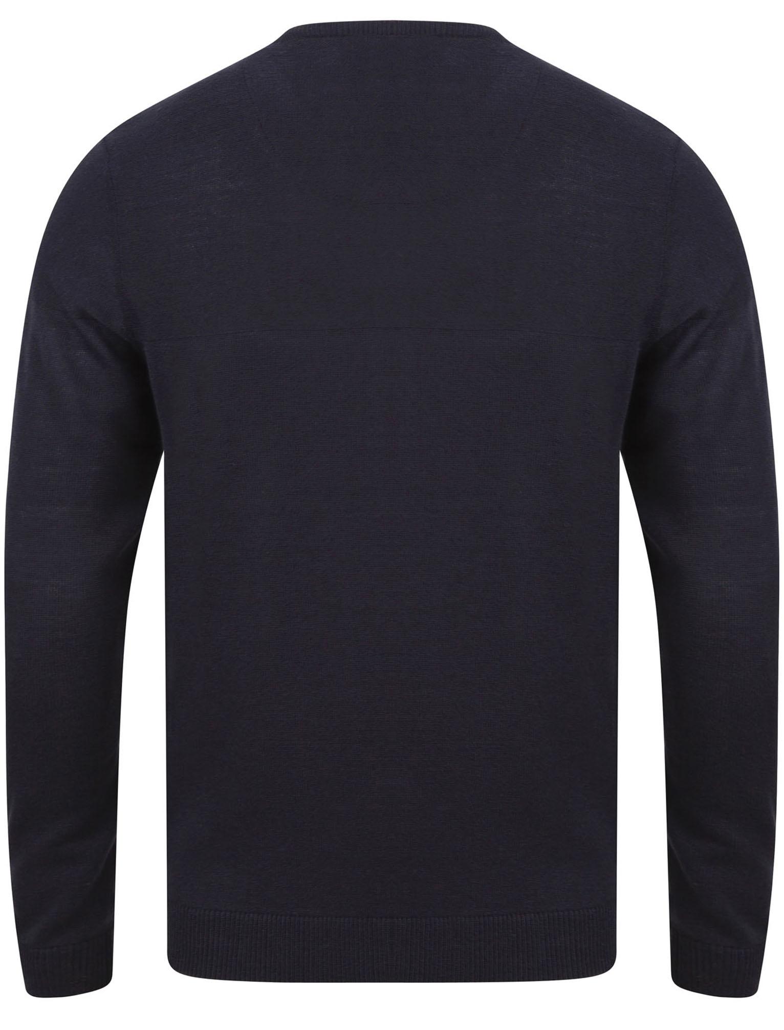 Kensington-Eastside-Men-039-s-Knitted-Crew-or-V-Neck-Jumper-Sweater-Top-Pullover thumbnail 47