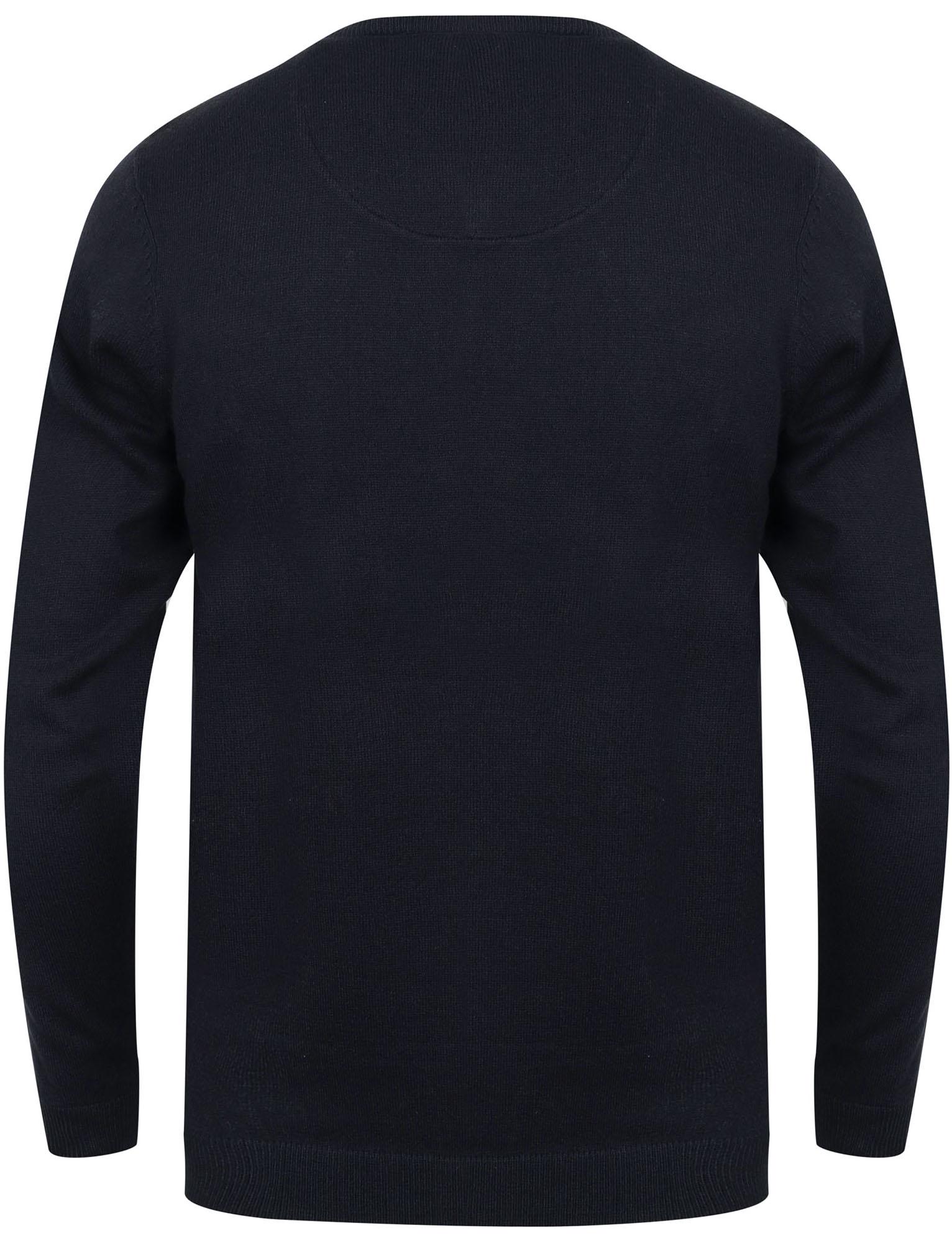 Kensington-Eastside-Men-039-s-Knitted-Crew-or-V-Neck-Jumper-Sweater-Top-Pullover thumbnail 33