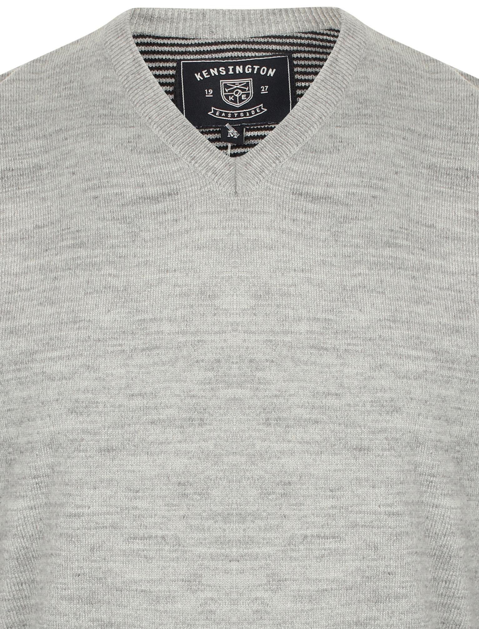 Kensington-Eastside-Men-039-s-Wool-Blend-Knitted-Crew-or-V-Neck-Jumper-Sweater-Top thumbnail 36