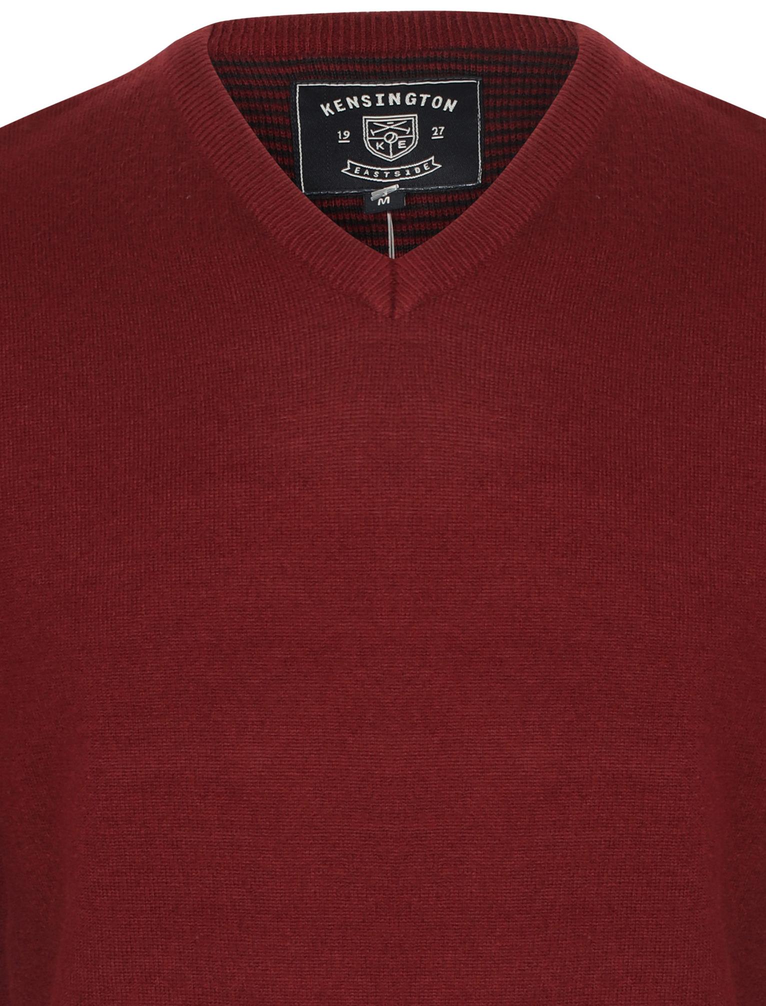 Kensington-Eastside-Men-039-s-Wool-Blend-Knitted-Crew-or-V-Neck-Jumper-Sweater-Top thumbnail 40
