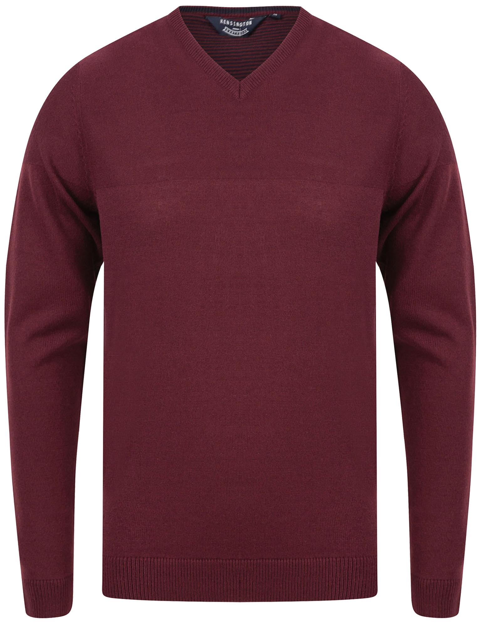 Kensington-Eastside-Men-039-s-Knitted-Crew-or-V-Neck-Jumper-Sweater-Top-Pullover thumbnail 53