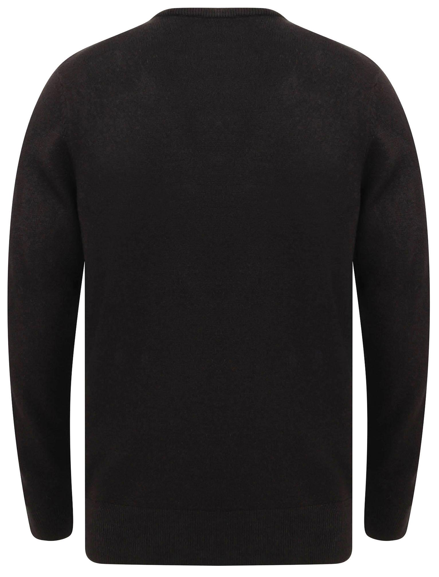 Kensington-Eastside-Men-039-s-Knitted-Crew-or-V-Neck-Jumper-Sweater-Top-Pullover thumbnail 75