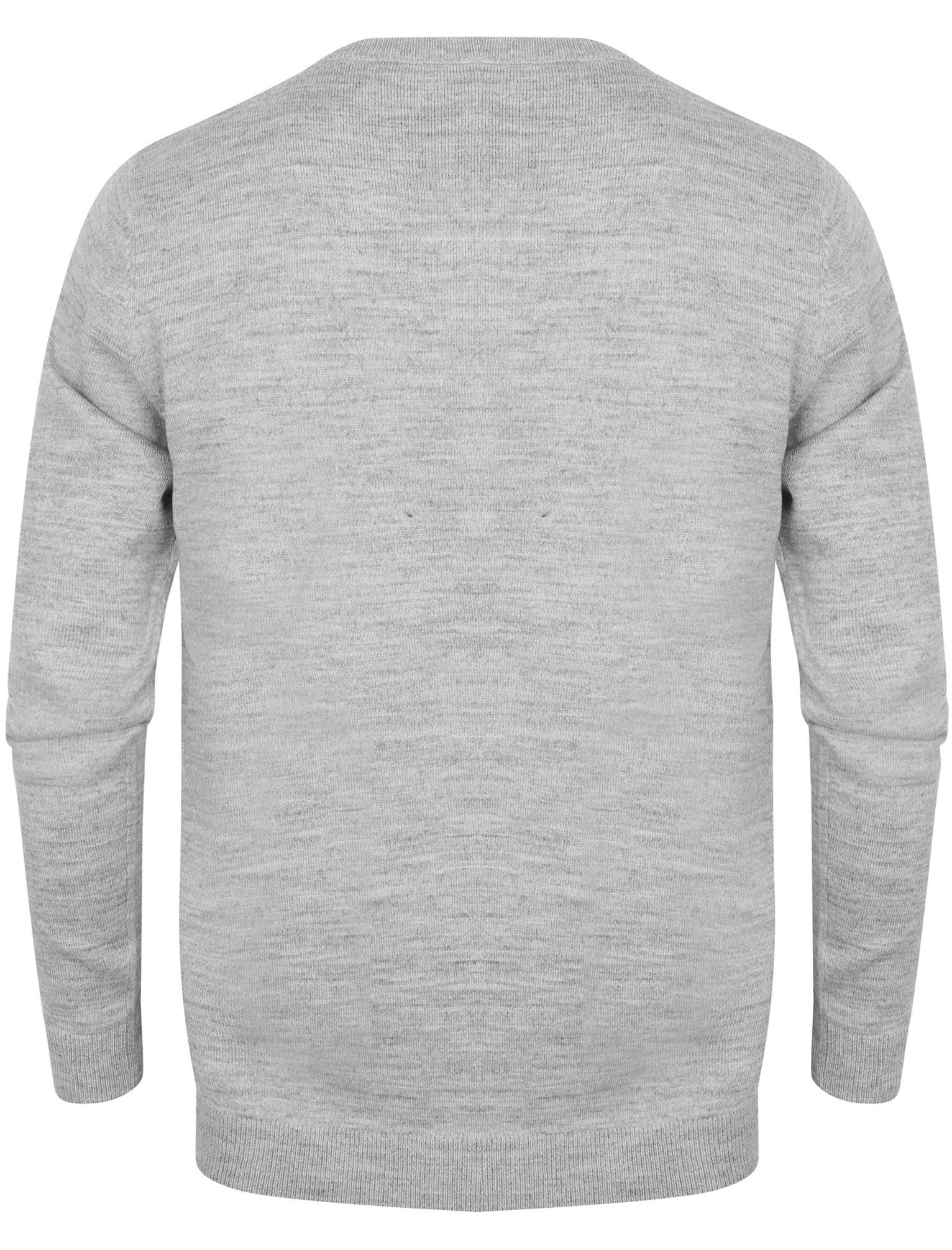 Kensington-Eastside-Men-039-s-Wool-Blend-Knitted-Crew-or-V-Neck-Jumper-Sweater-Top thumbnail 35