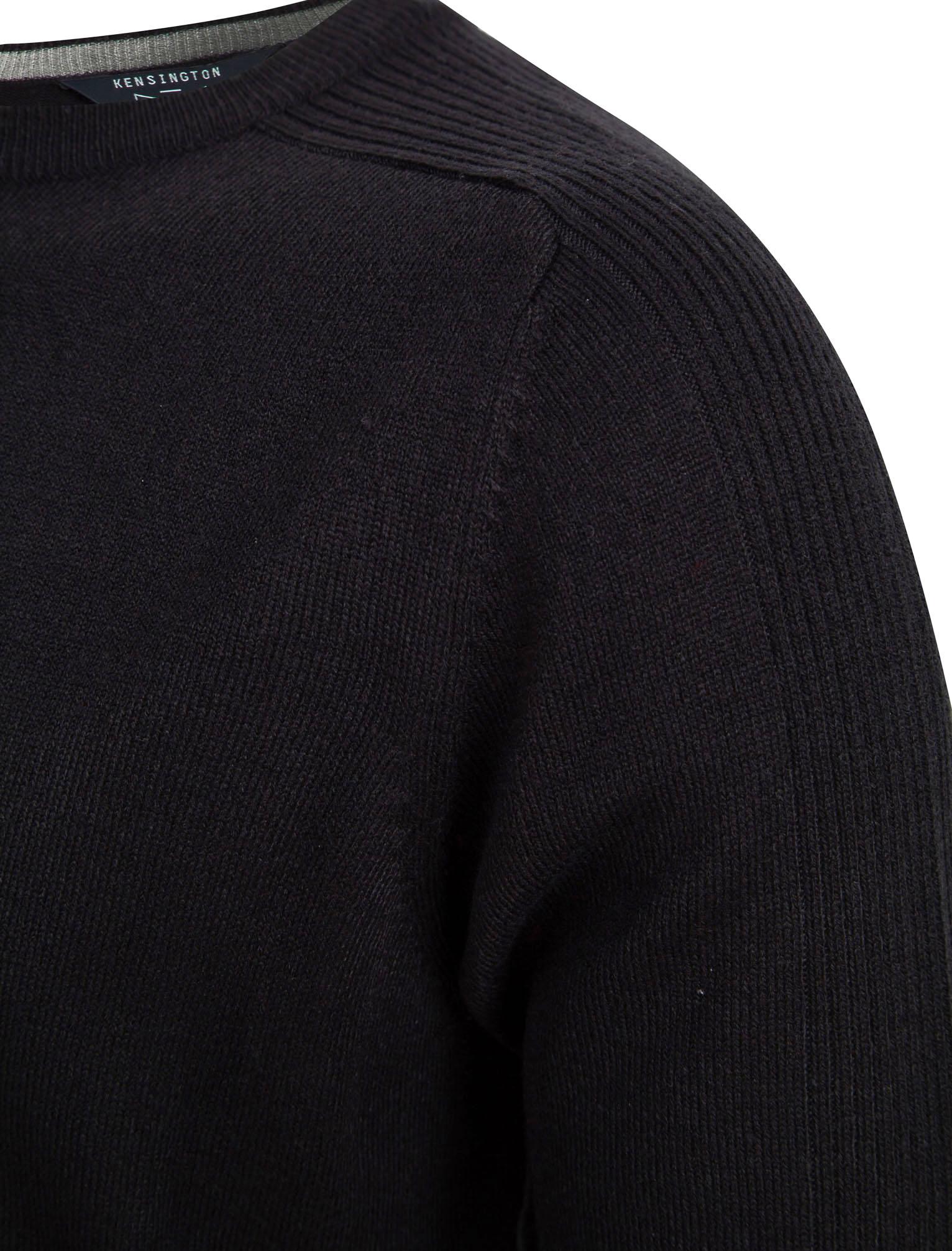 Kensington-Eastside-Men-039-s-Knitted-Crew-or-V-Neck-Jumper-Sweater-Top-Pullover thumbnail 66