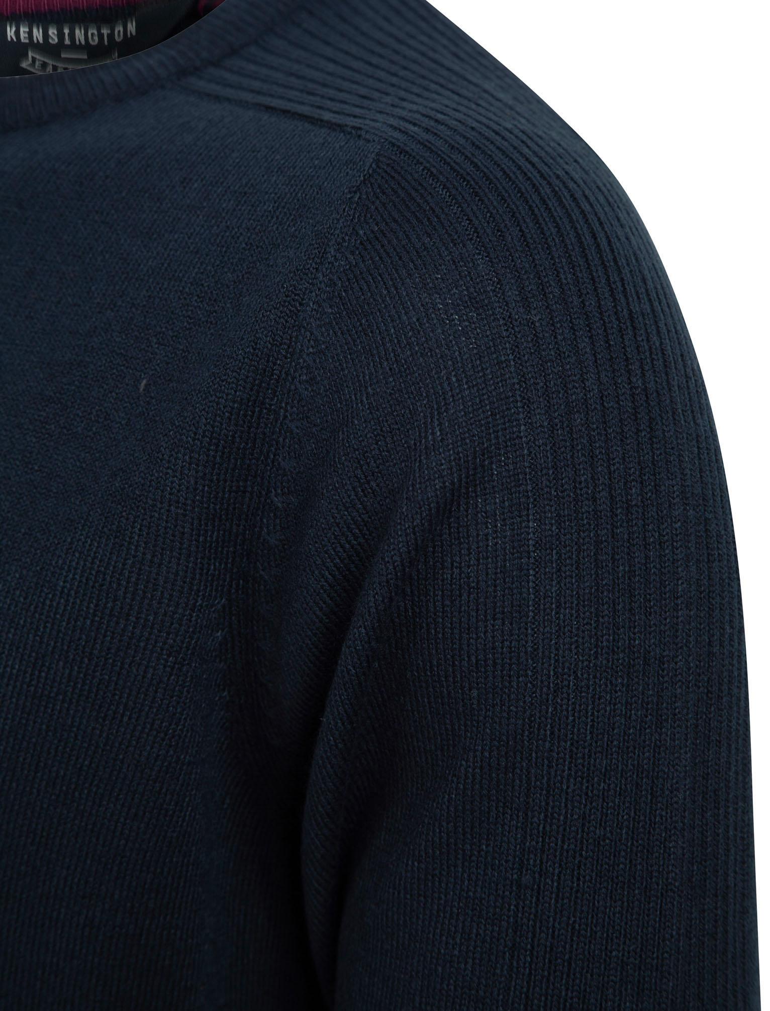 Kensington-Eastside-Men-039-s-Knitted-Crew-or-V-Neck-Jumper-Sweater-Top-Pullover thumbnail 72