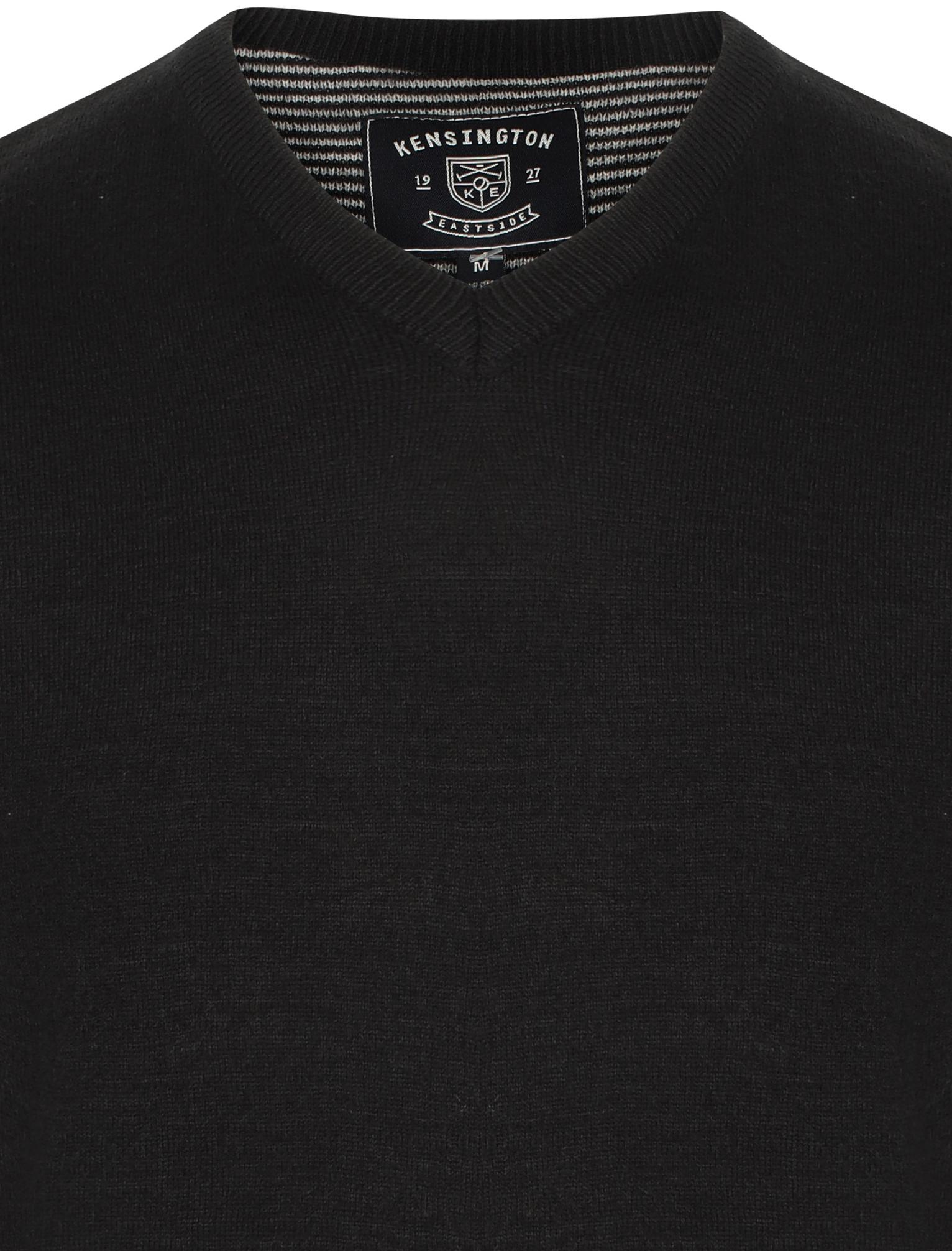 Kensington-Eastside-Men-039-s-Wool-Blend-Knitted-Crew-or-V-Neck-Jumper-Sweater-Top thumbnail 44