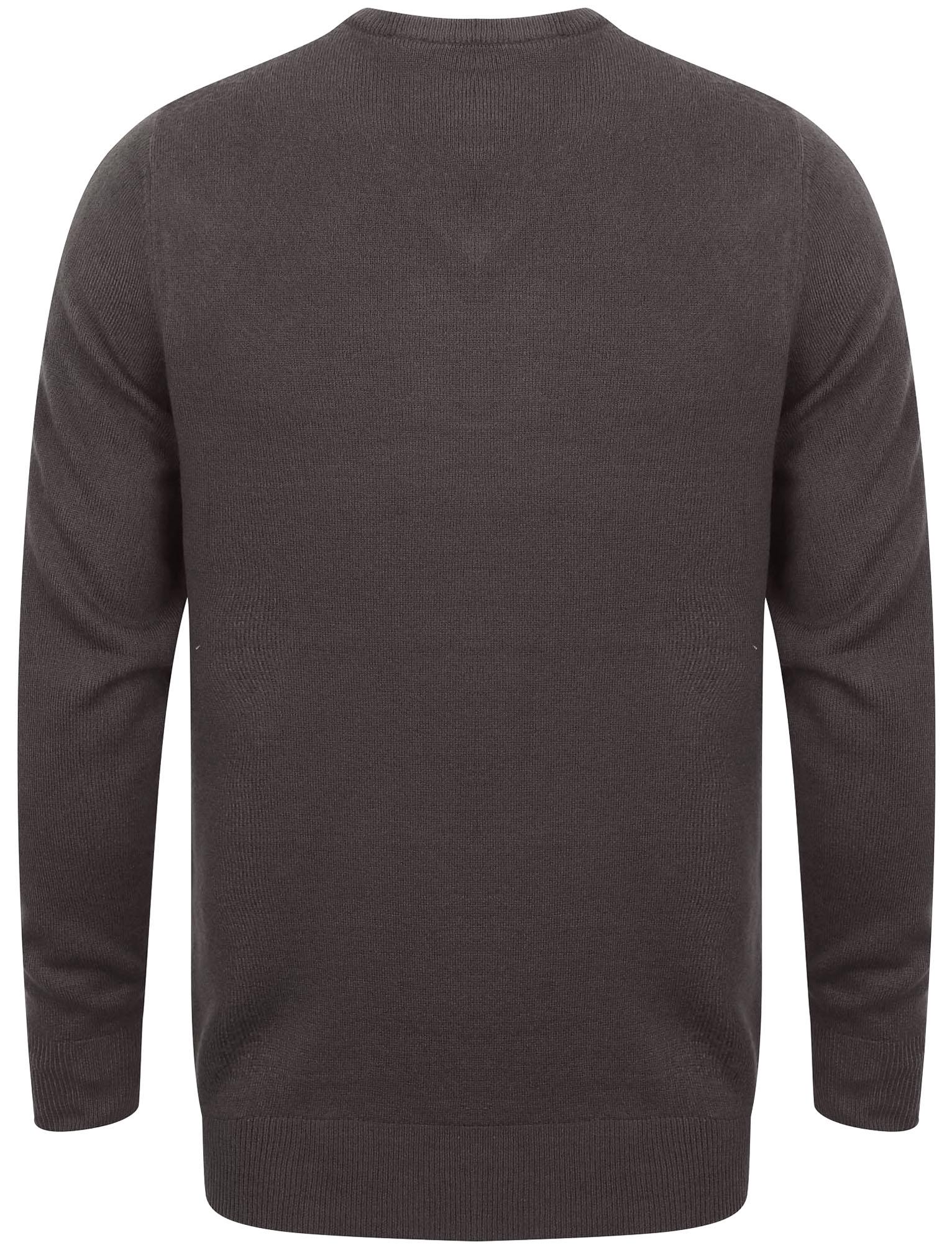 Kensington-Eastside-Men-039-s-Knitted-Crew-or-V-Neck-Jumper-Sweater-Top-Pullover thumbnail 100