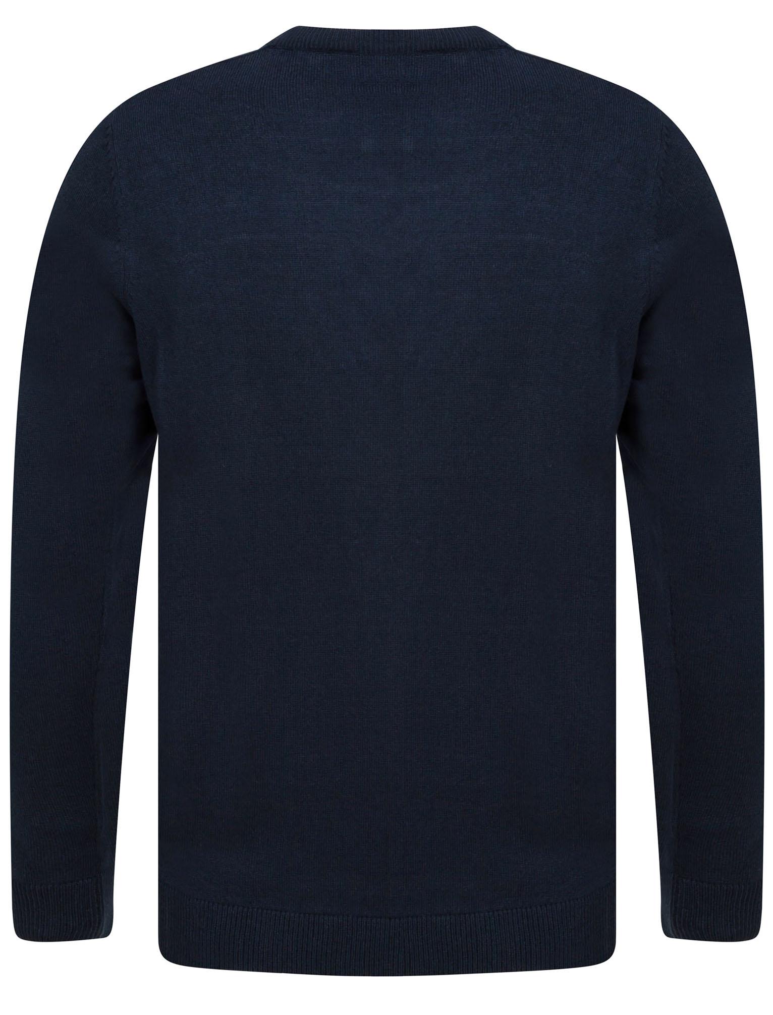 Kensington-Eastside-Men-039-s-Knitted-Crew-or-V-Neck-Jumper-Sweater-Top-Pullover thumbnail 71