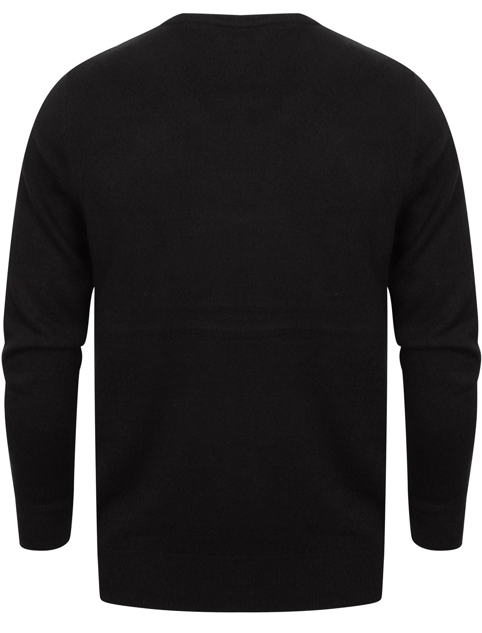 Kensington-Eastside-Men-039-s-Knitted-Crew-or-V-Neck-Jumper-Sweater-Top-Pullover thumbnail 96