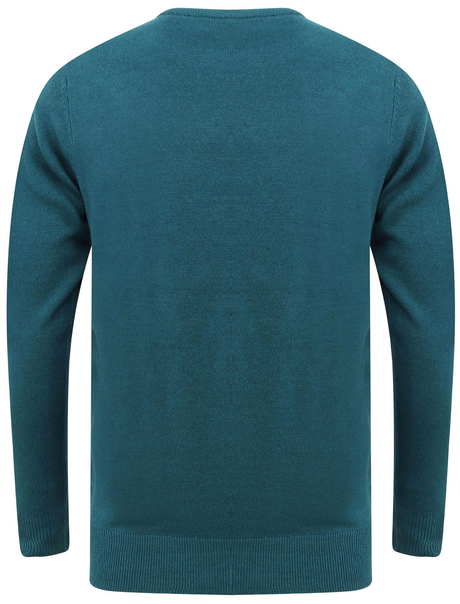 Kensington-Eastside-Men-039-s-Knitted-Crew-or-V-Neck-Jumper-Sweater-Top-Pullover thumbnail 81